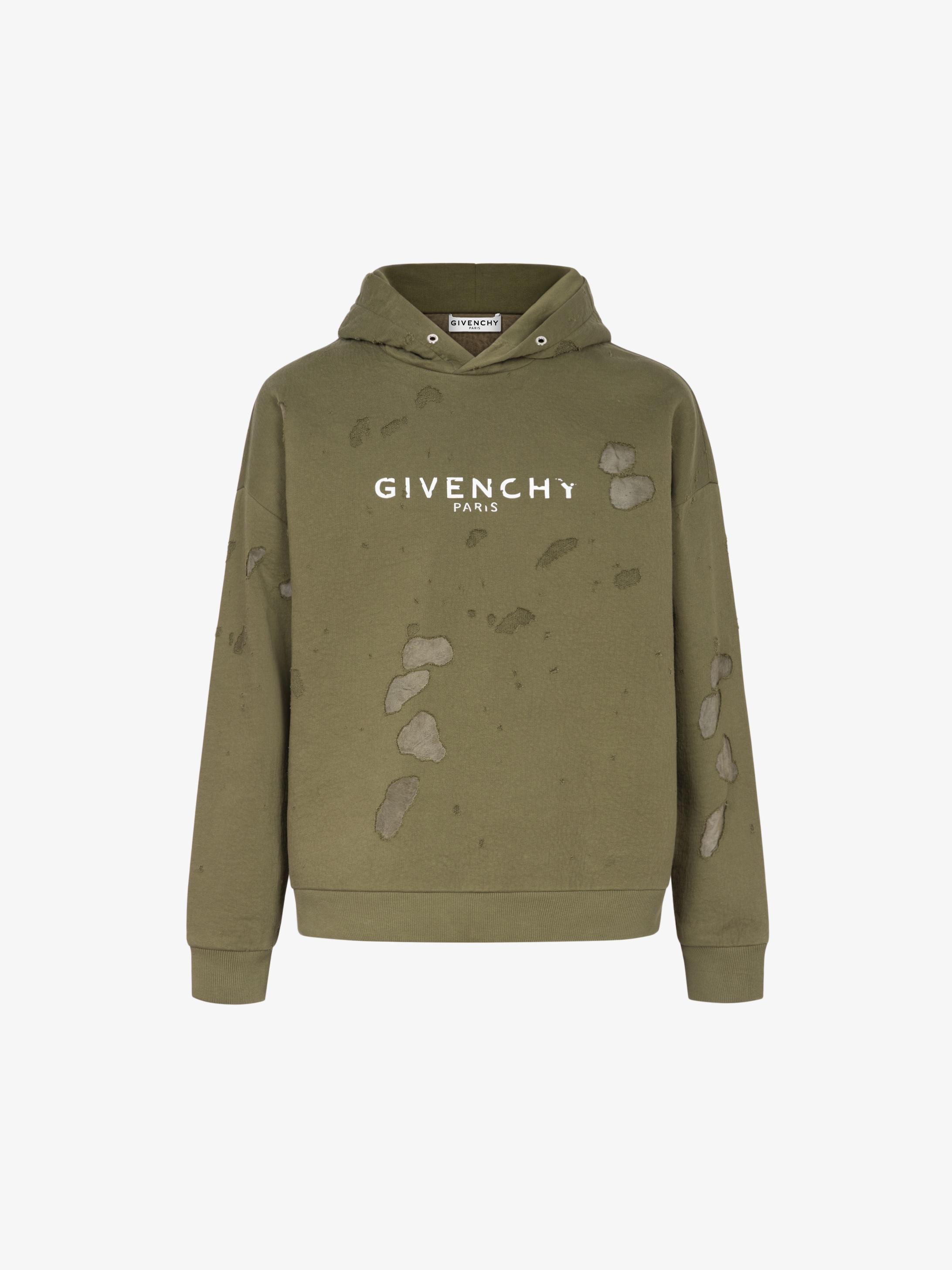 Sweatshirt à capuche destroyed GIVENCHY