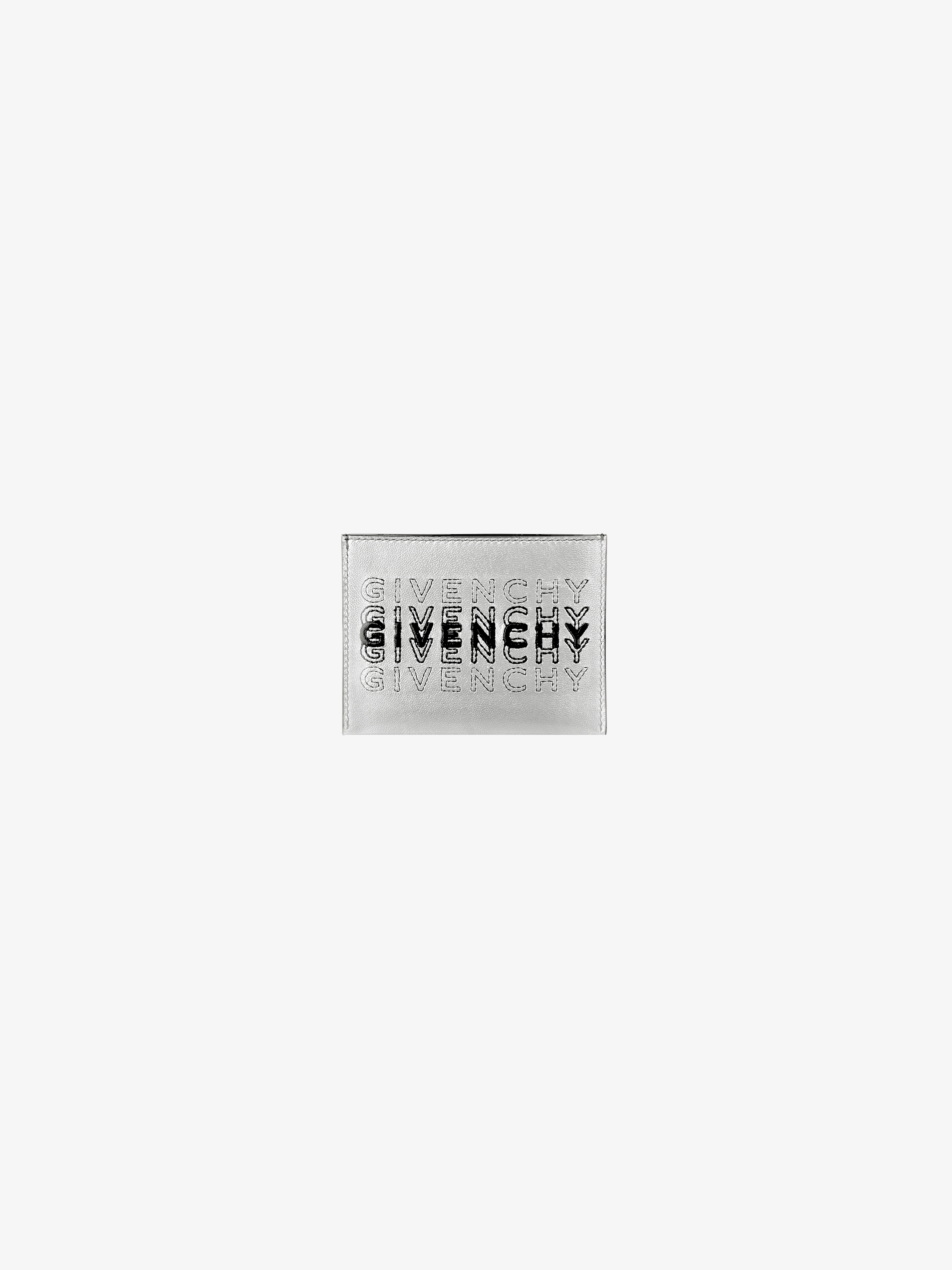 GIVENCHY shading card holder in leather