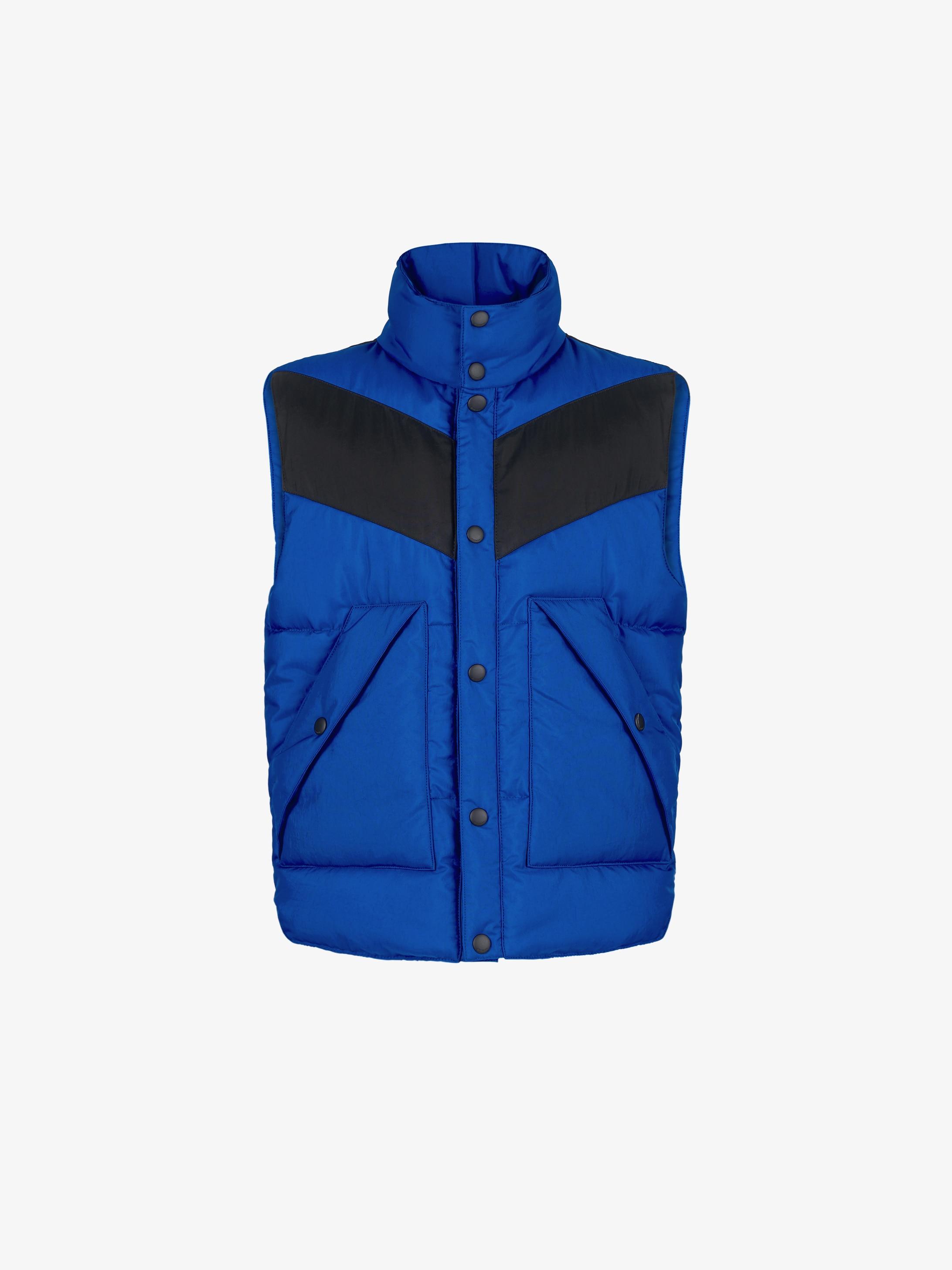 Color block sleeveless puffa jacket