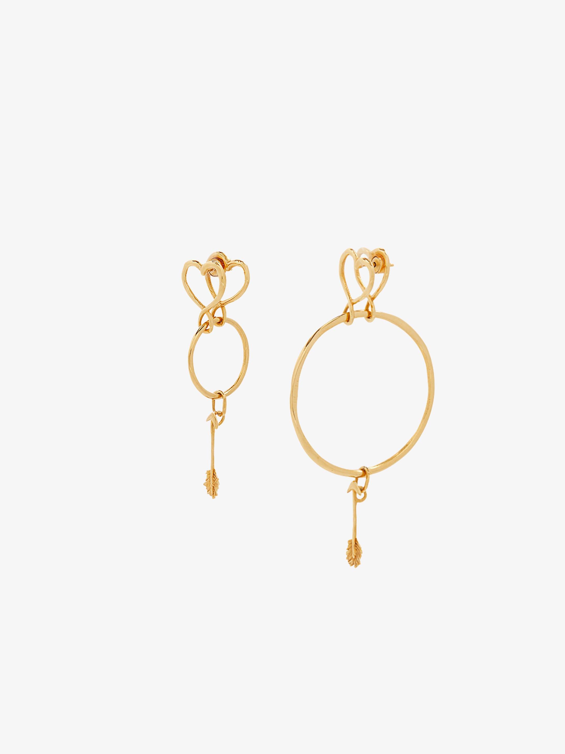 Long heart earrings