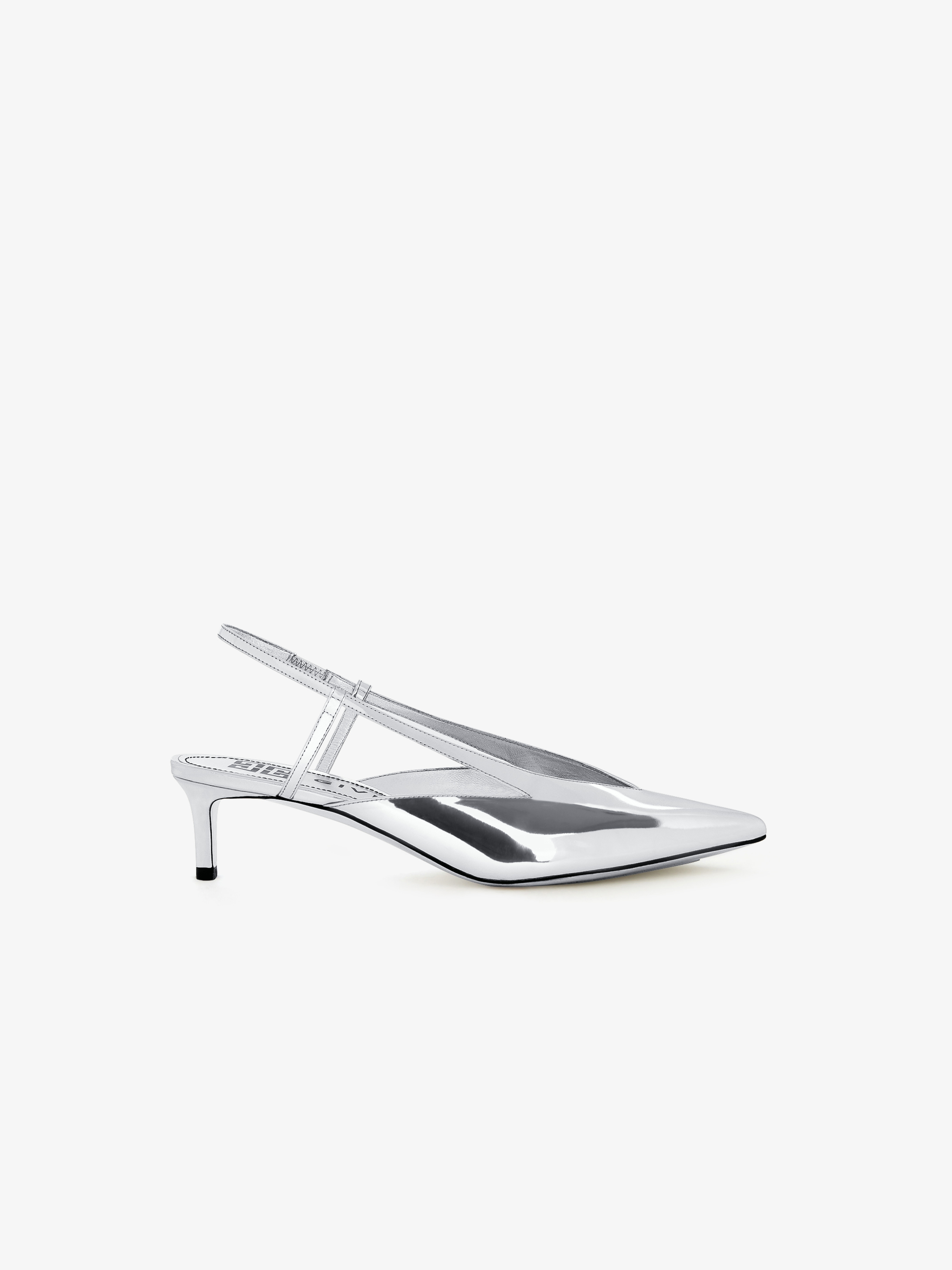 Miror leather sling back pumps with graphic cut out