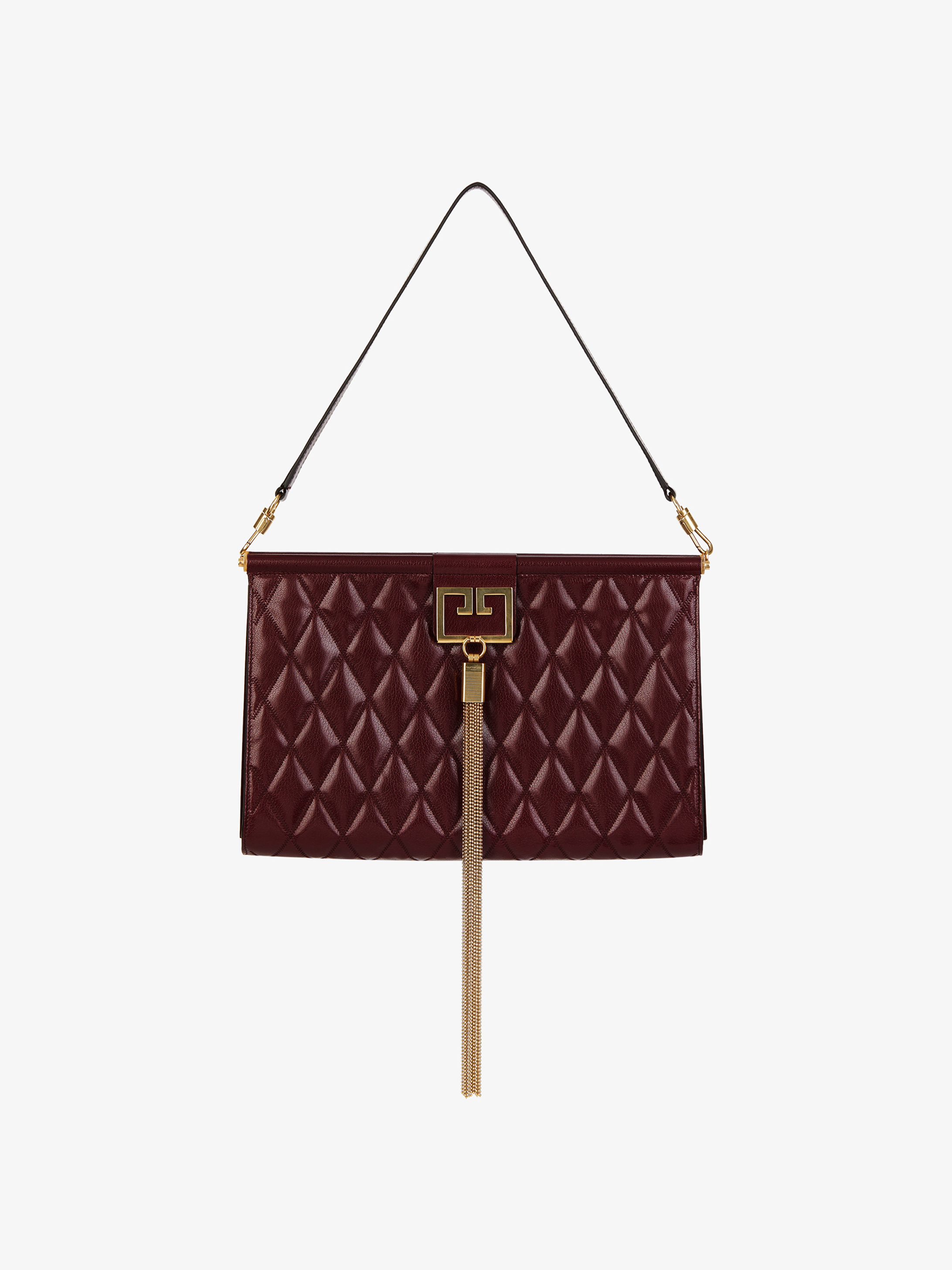 Large GEM bag in diamon quilted leather
