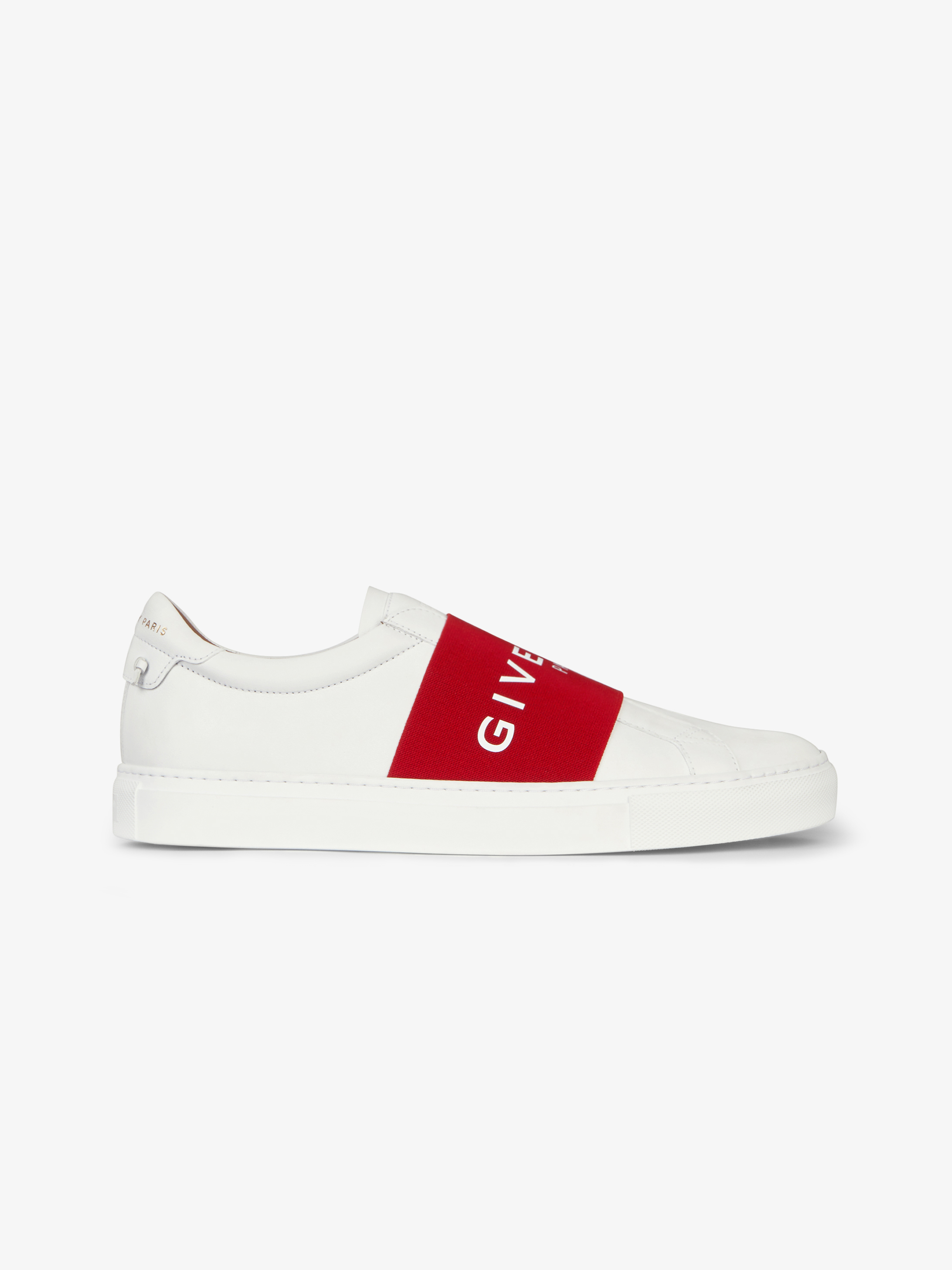 GIVENCHY PARIS webbing sneakers in leather