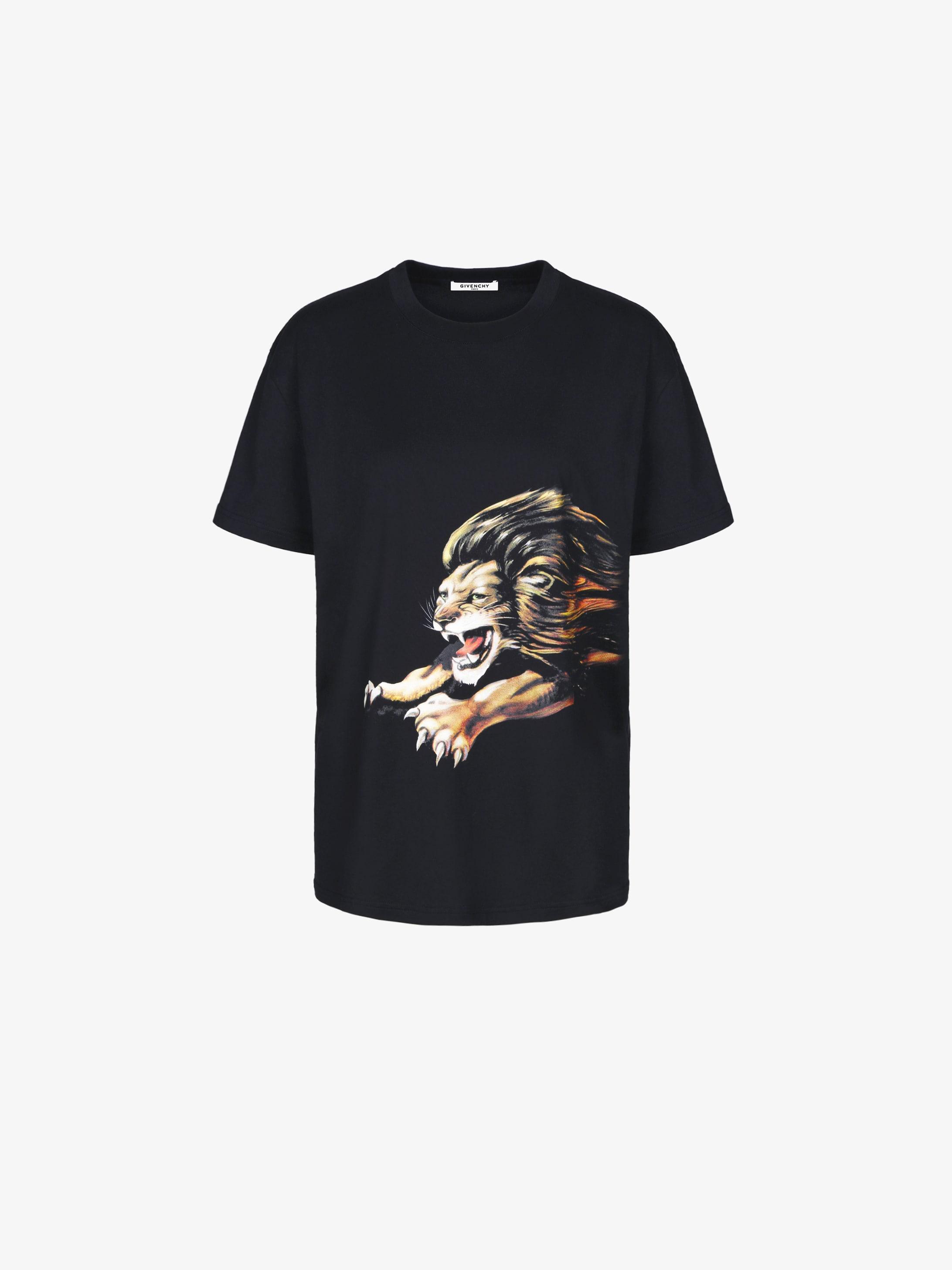 狮子座印花超大T恤