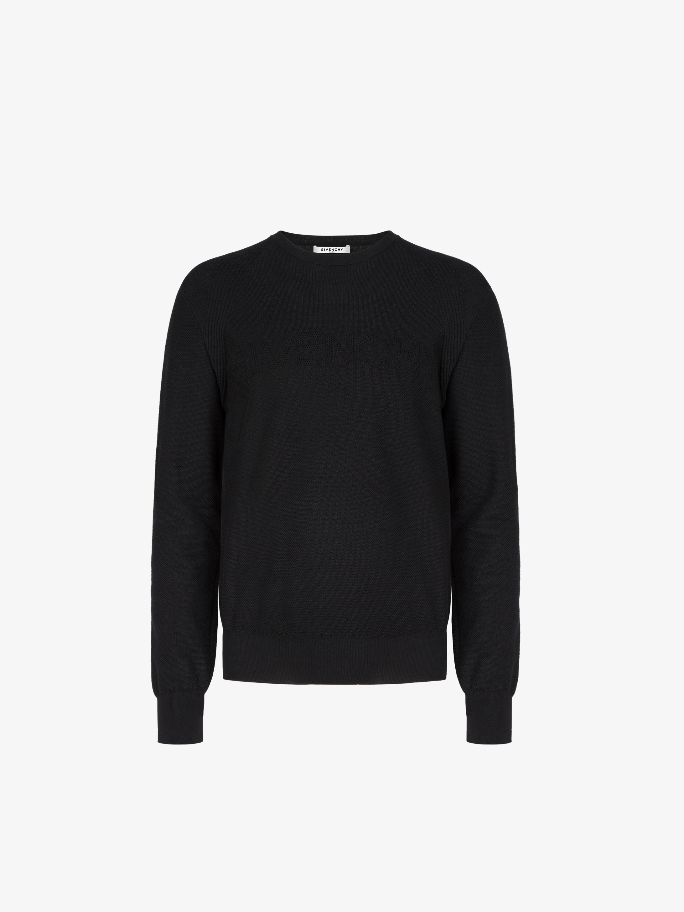 GIVENCHY signature perforated sweater in cotton