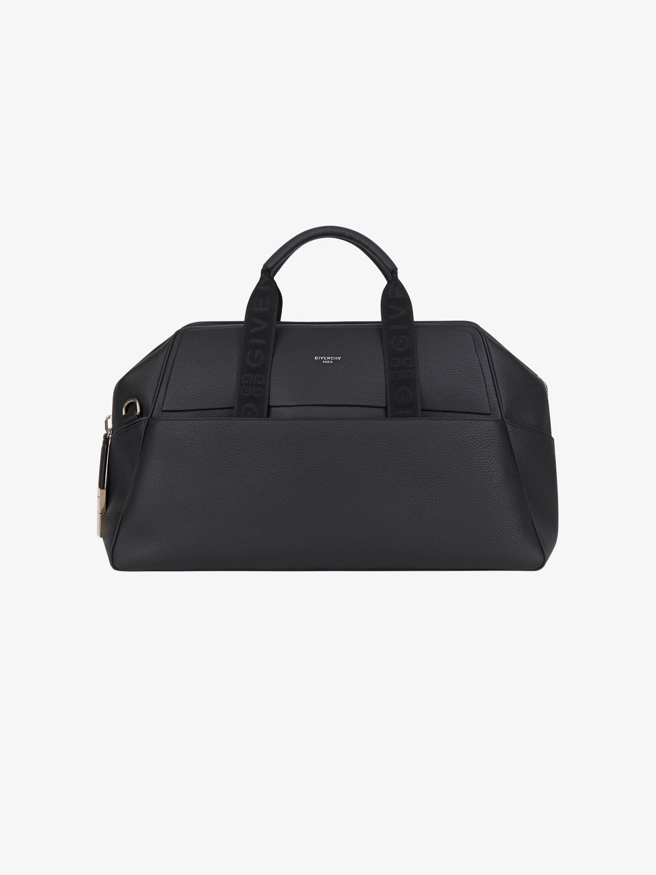 Weekender bag in grained leather