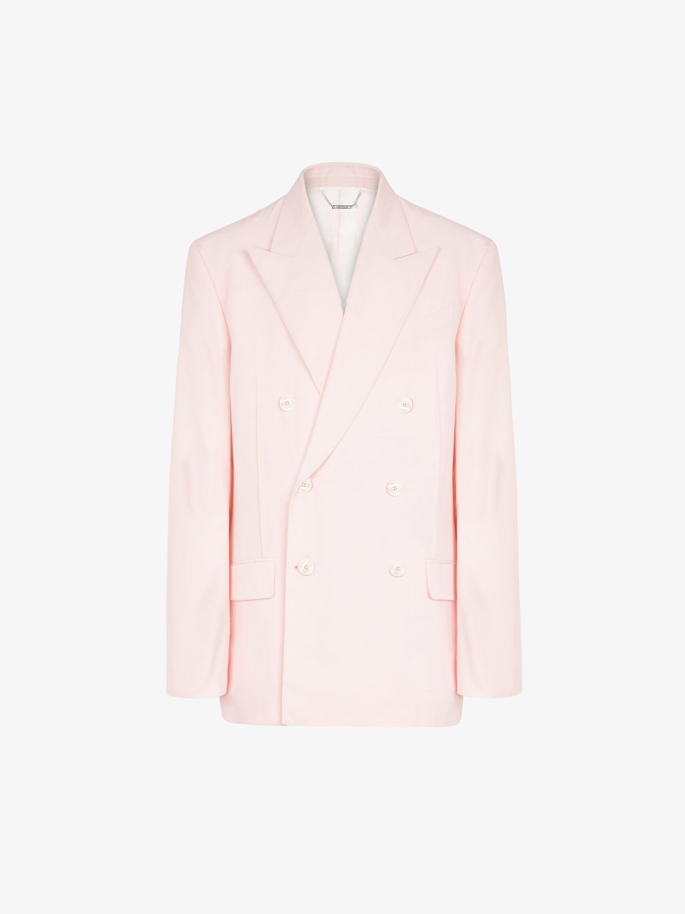 棉质罗缎超大双排扣夹克