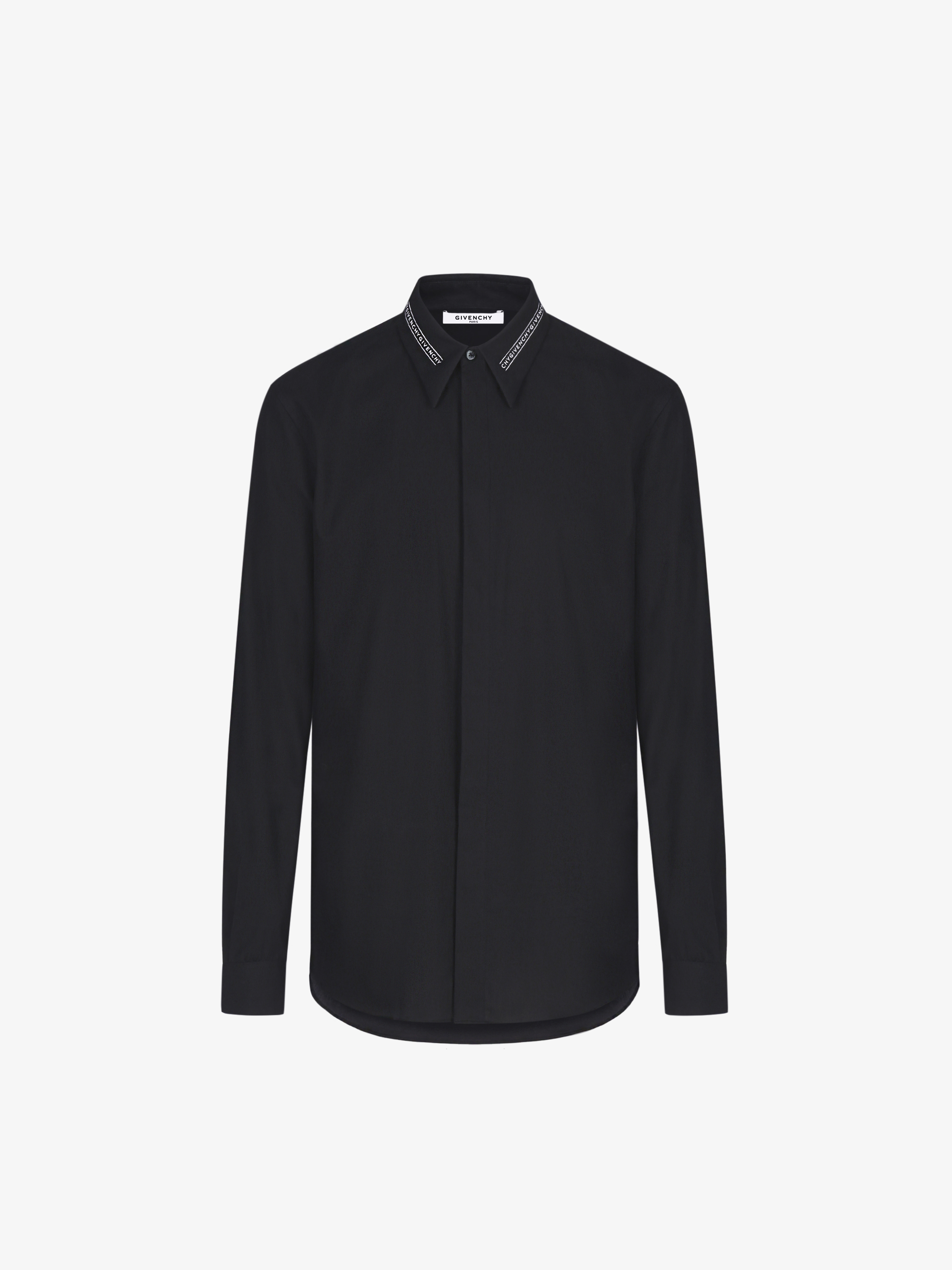 GIVENCHY collar webbing shirt in cotton twill
