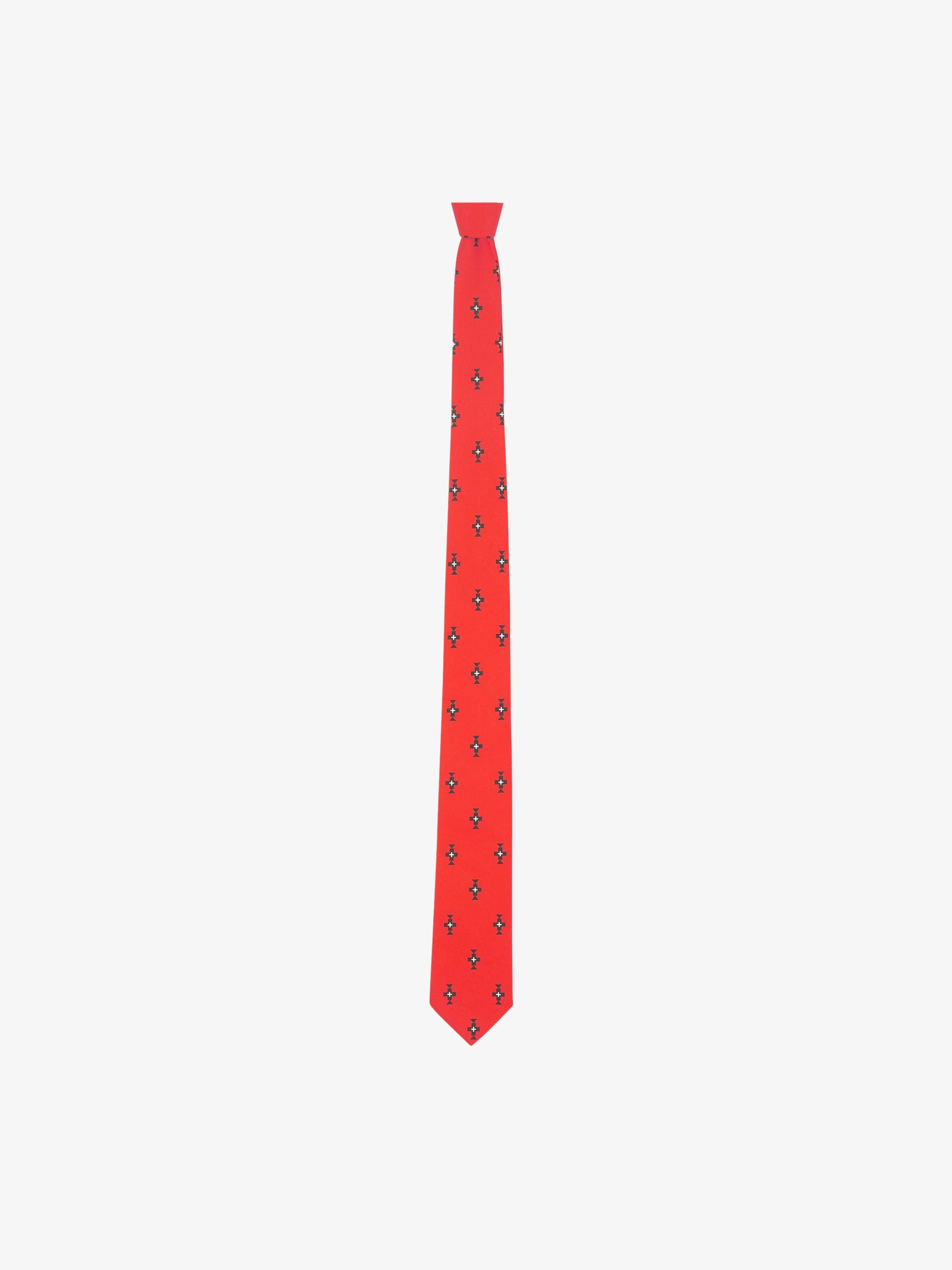 Cravate en coton motif Totem