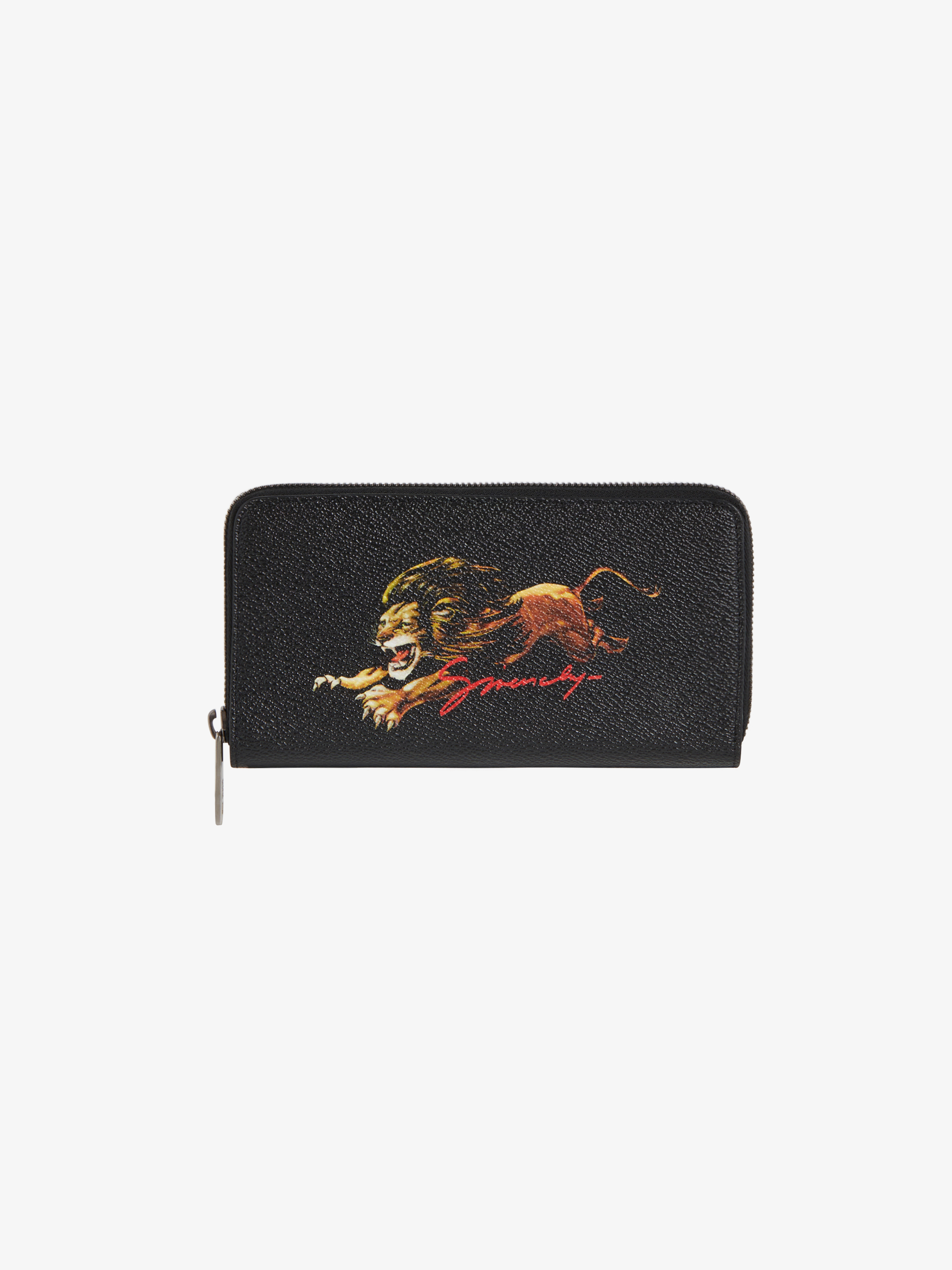 Leo long zipped wallet in coated canvas