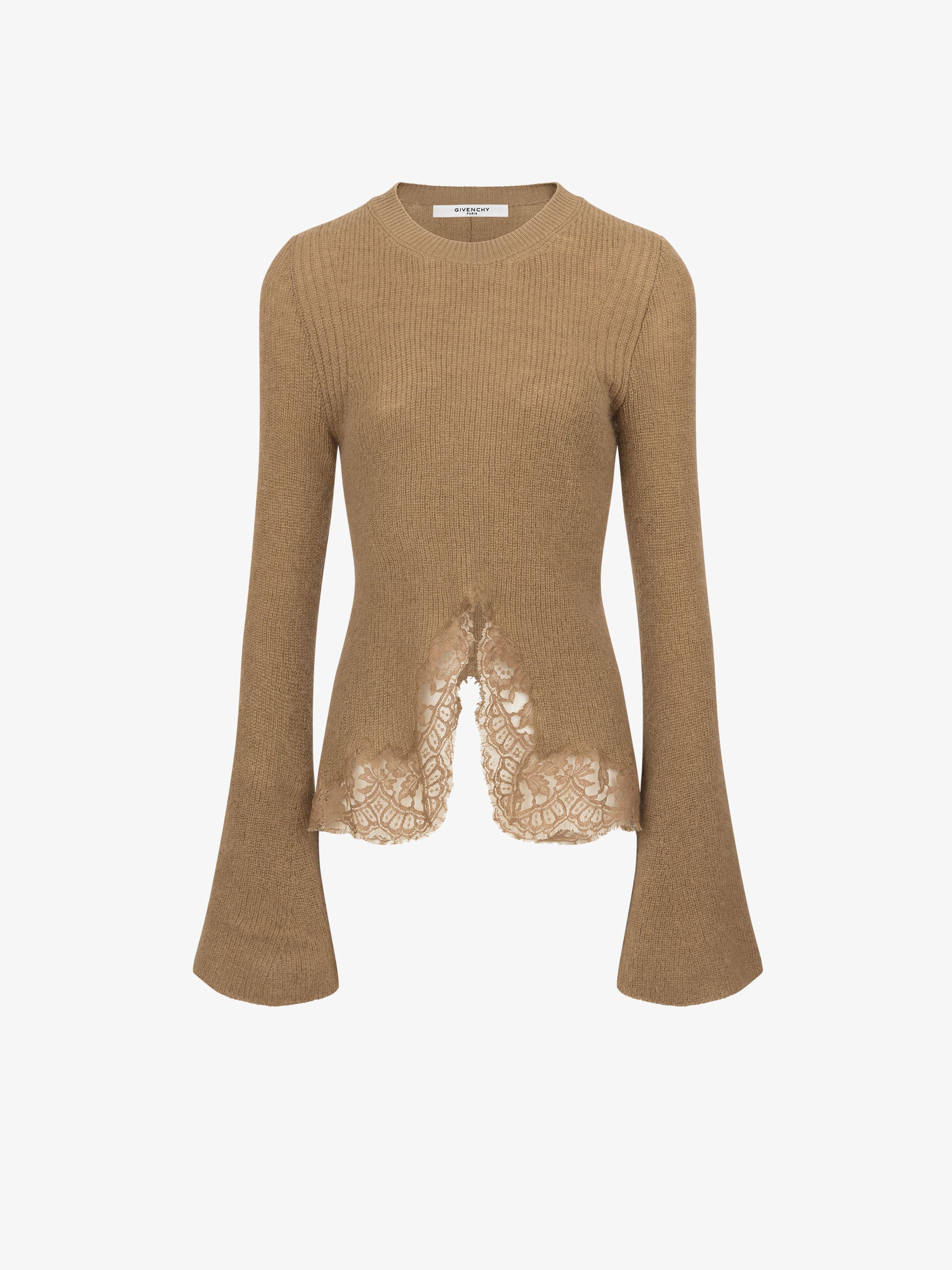 Mohair and lace jumper