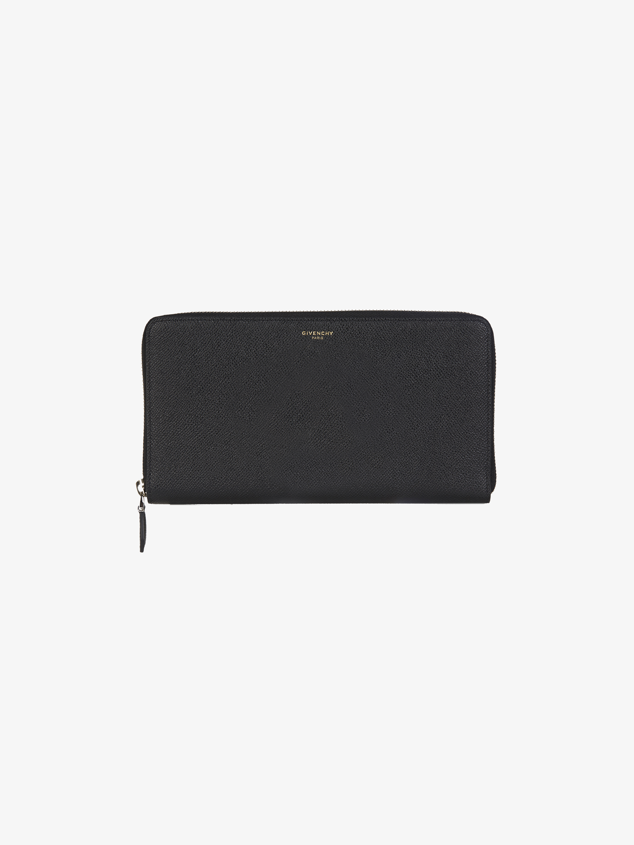 Long zipped wallet in grained leather