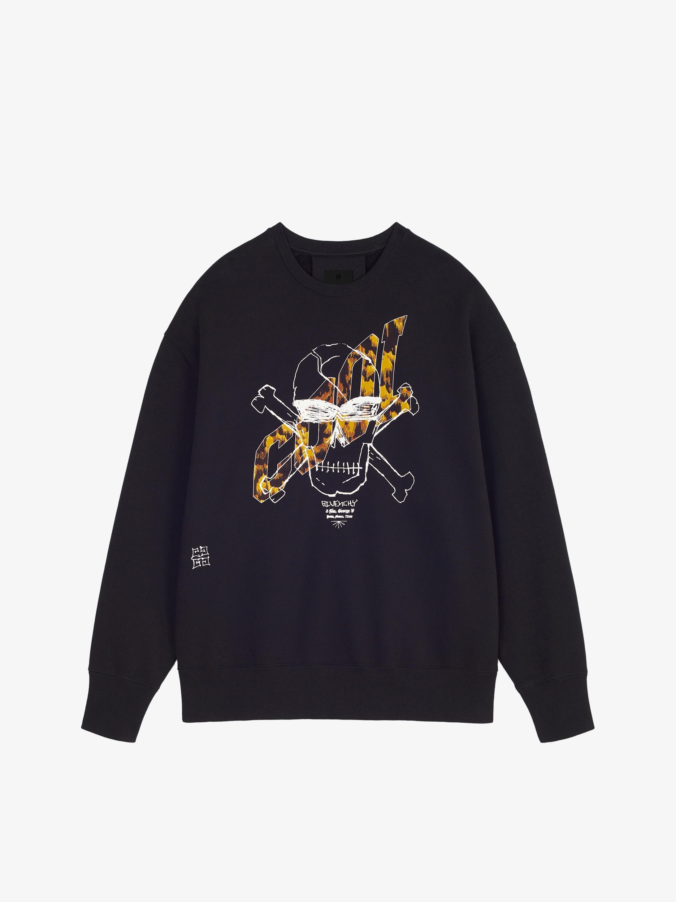 Sweatshirt oversized imprimé