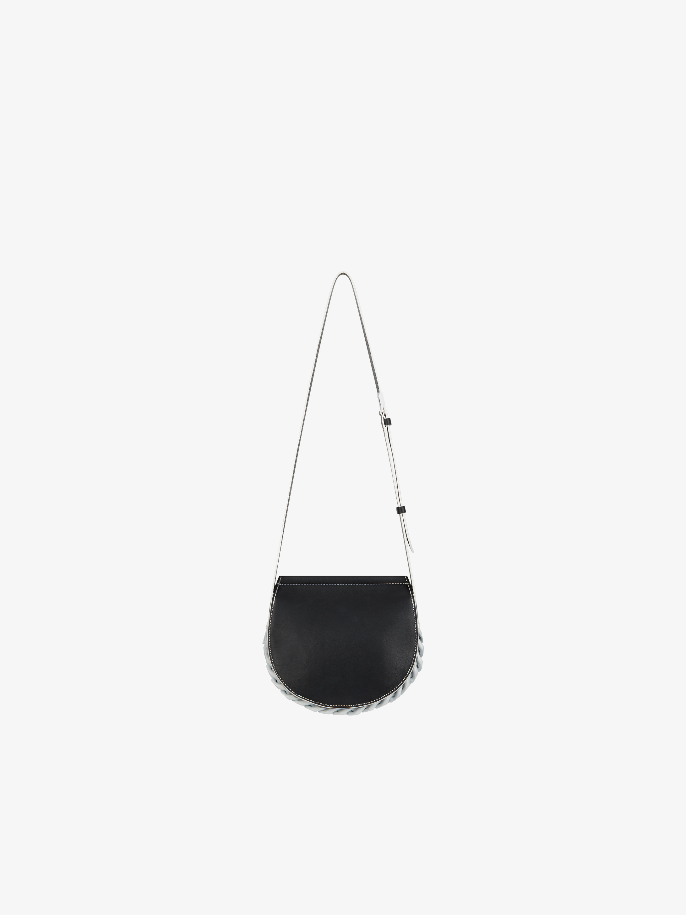 Mini Infinity saddle bag in grained  leather