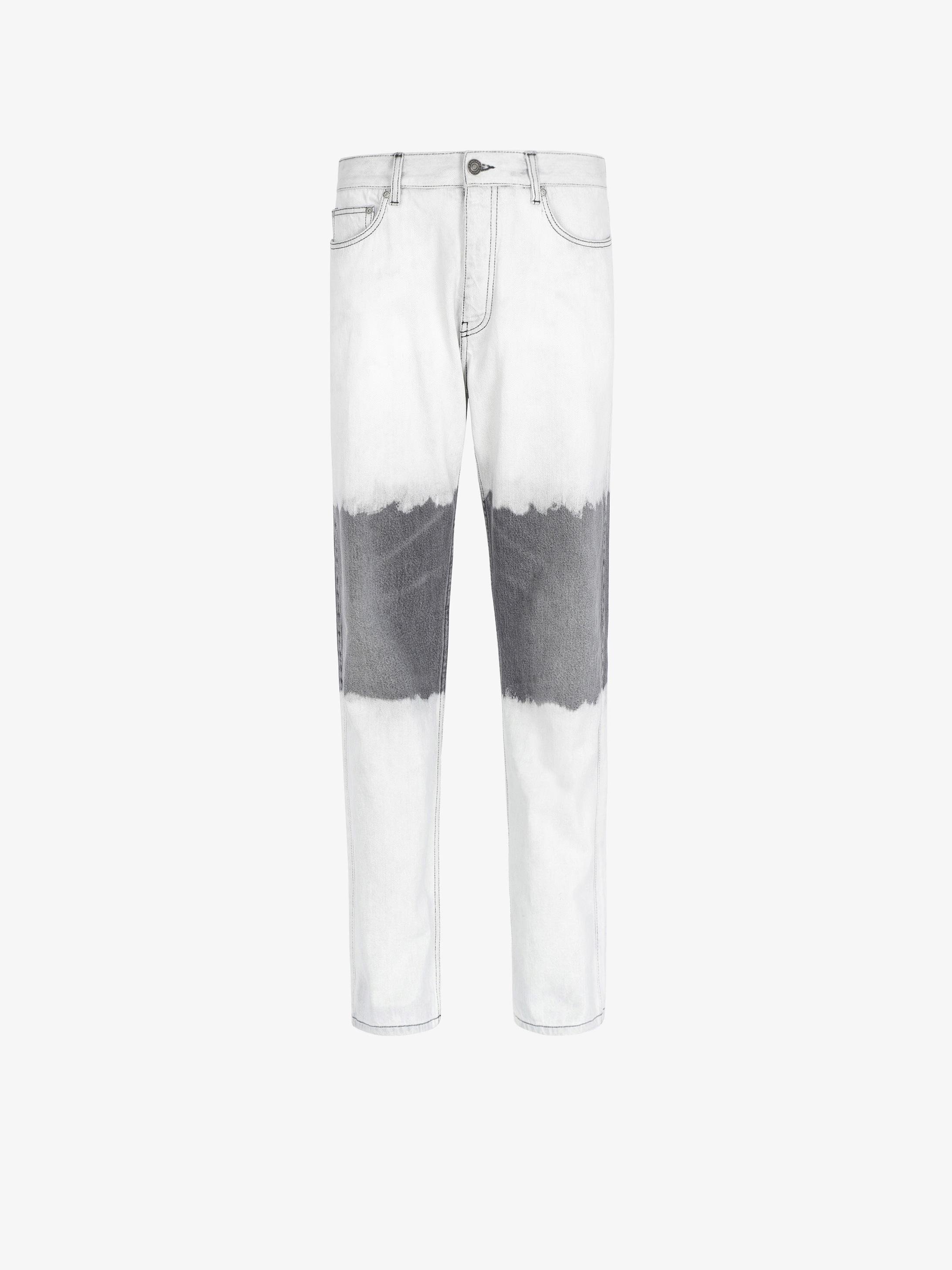 双色牛仔裤