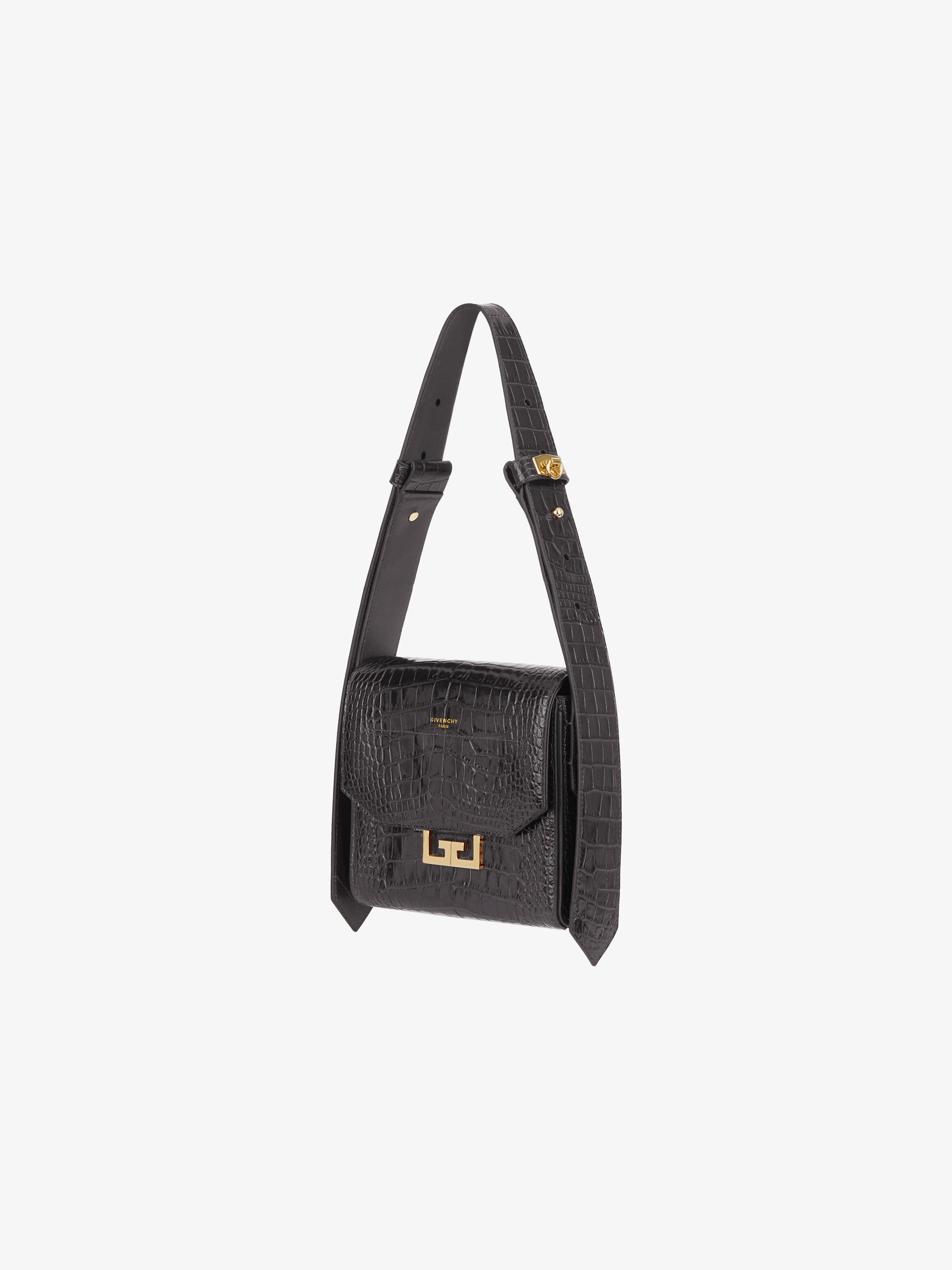 Small Eden bag in crocodile effect leather