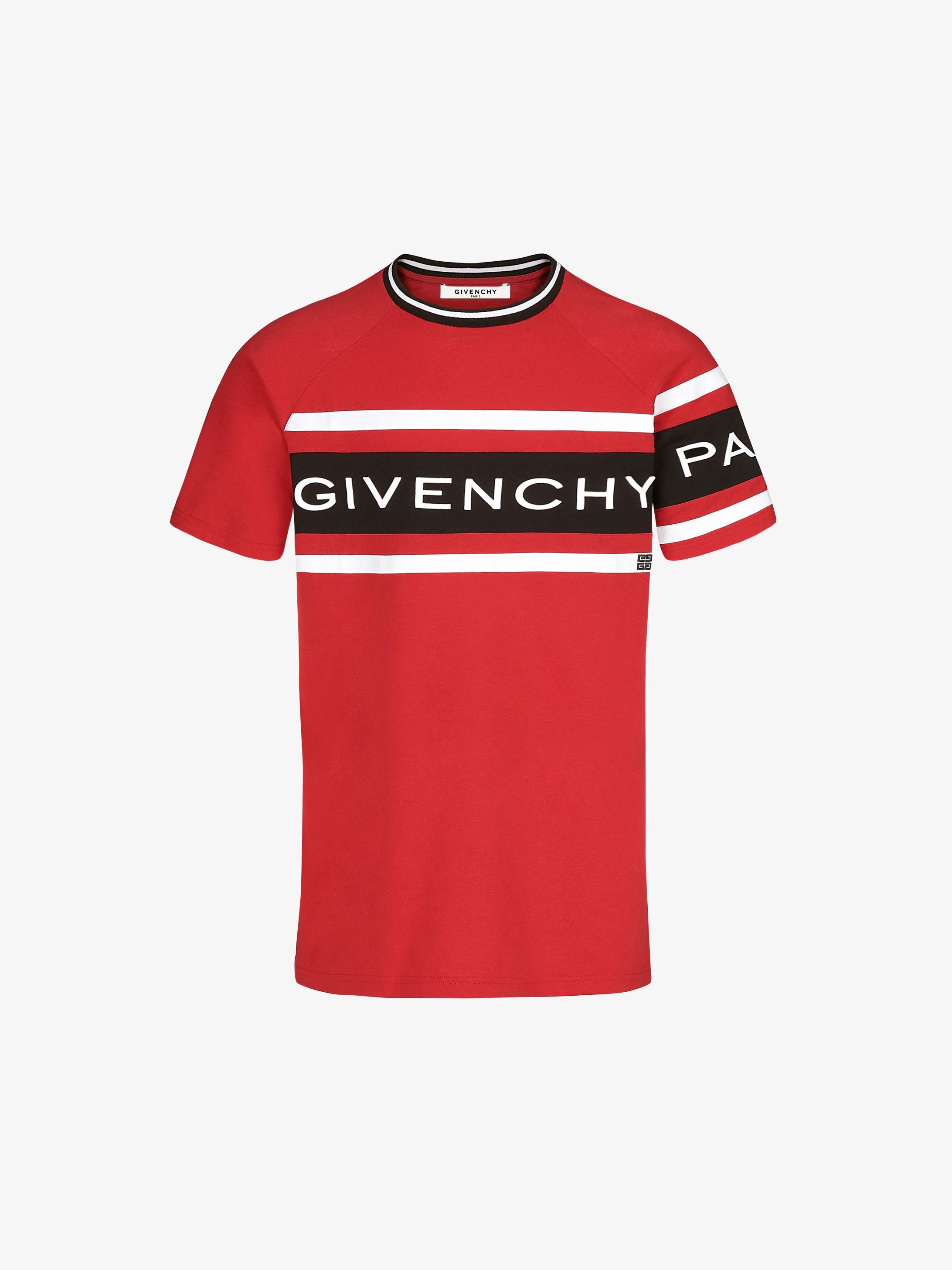 T-shirt slim à bandes GIVENCHY 4G contrastées