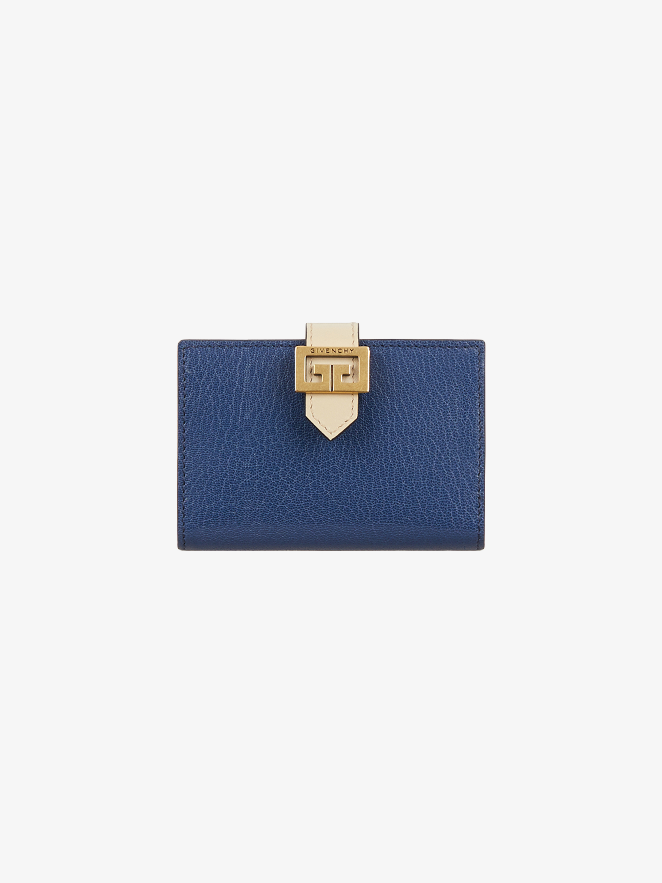 Two-toned GV3 wallet in leather