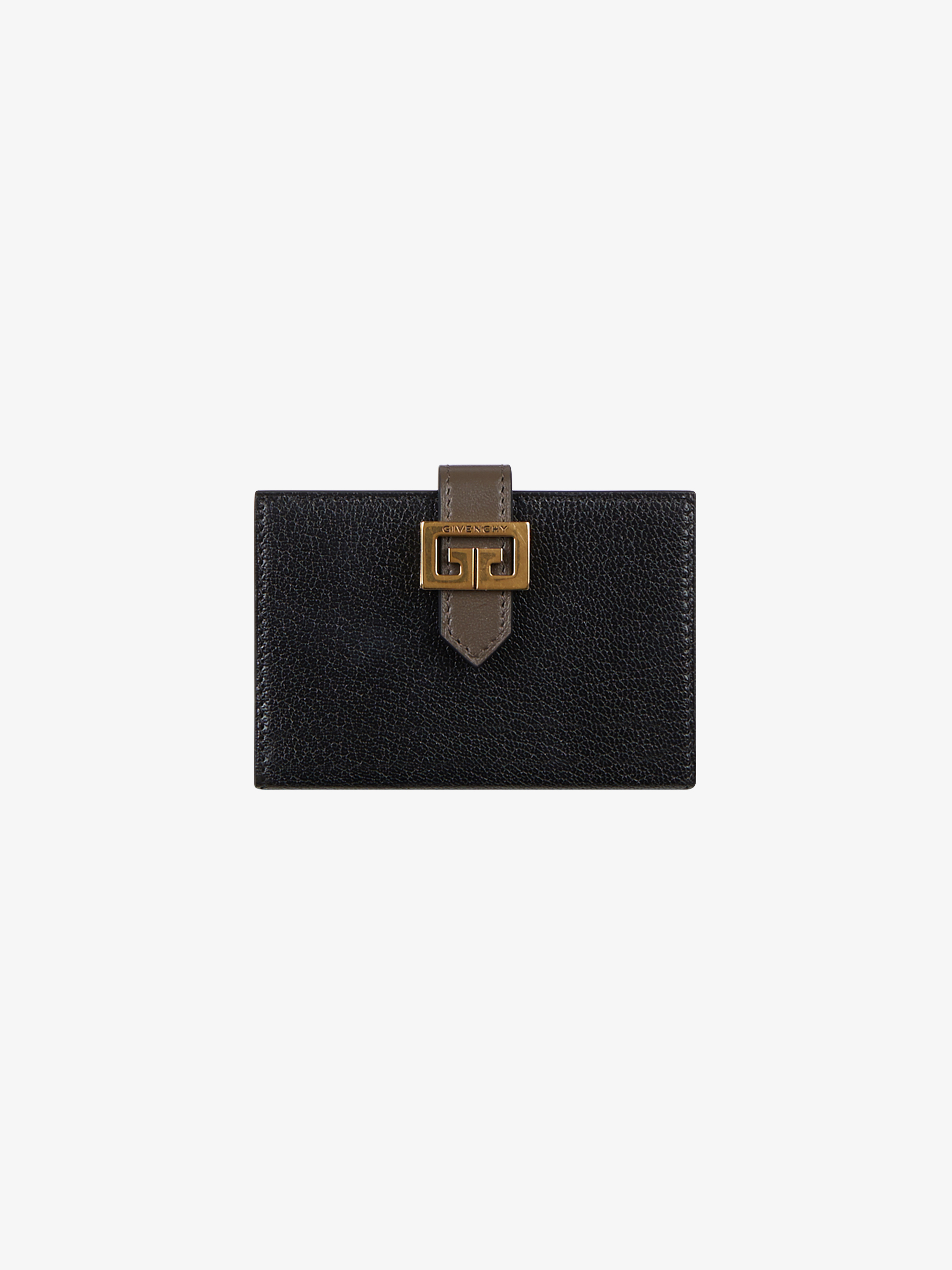 GV3 two tone card holder in leather