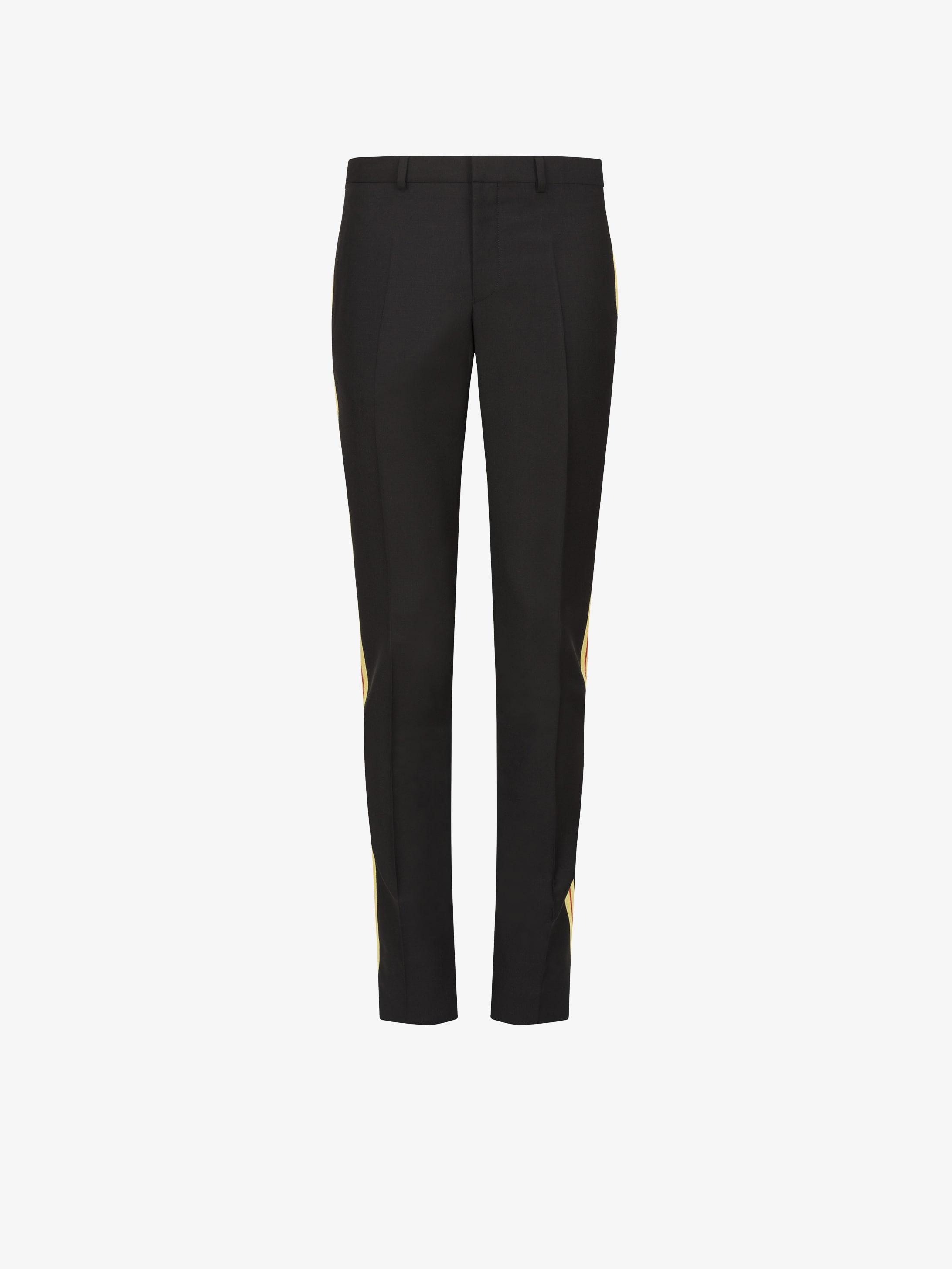 Pantaloni slim fit con strisce laterali a contrasto