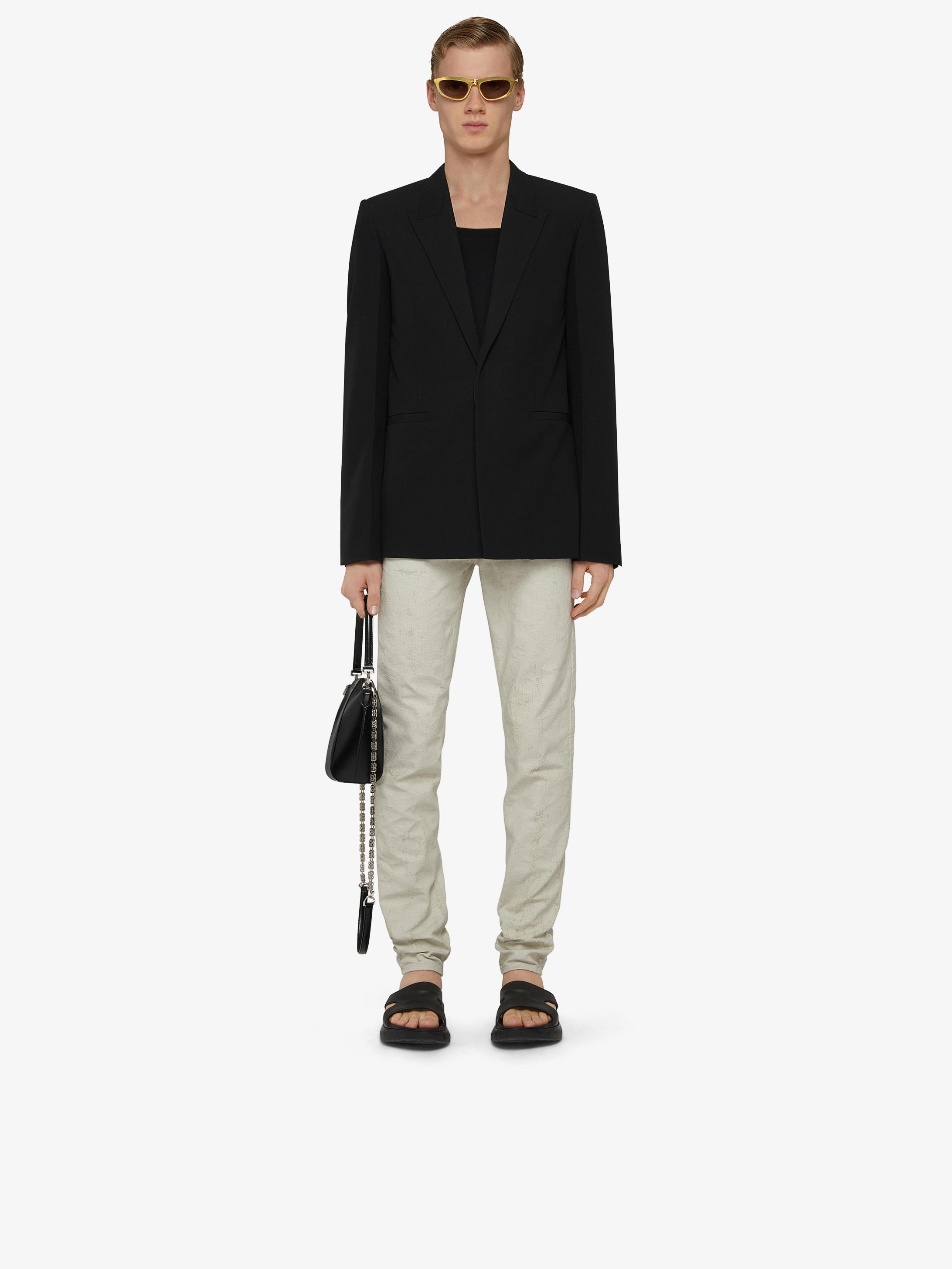 Slim fit jacket in wool