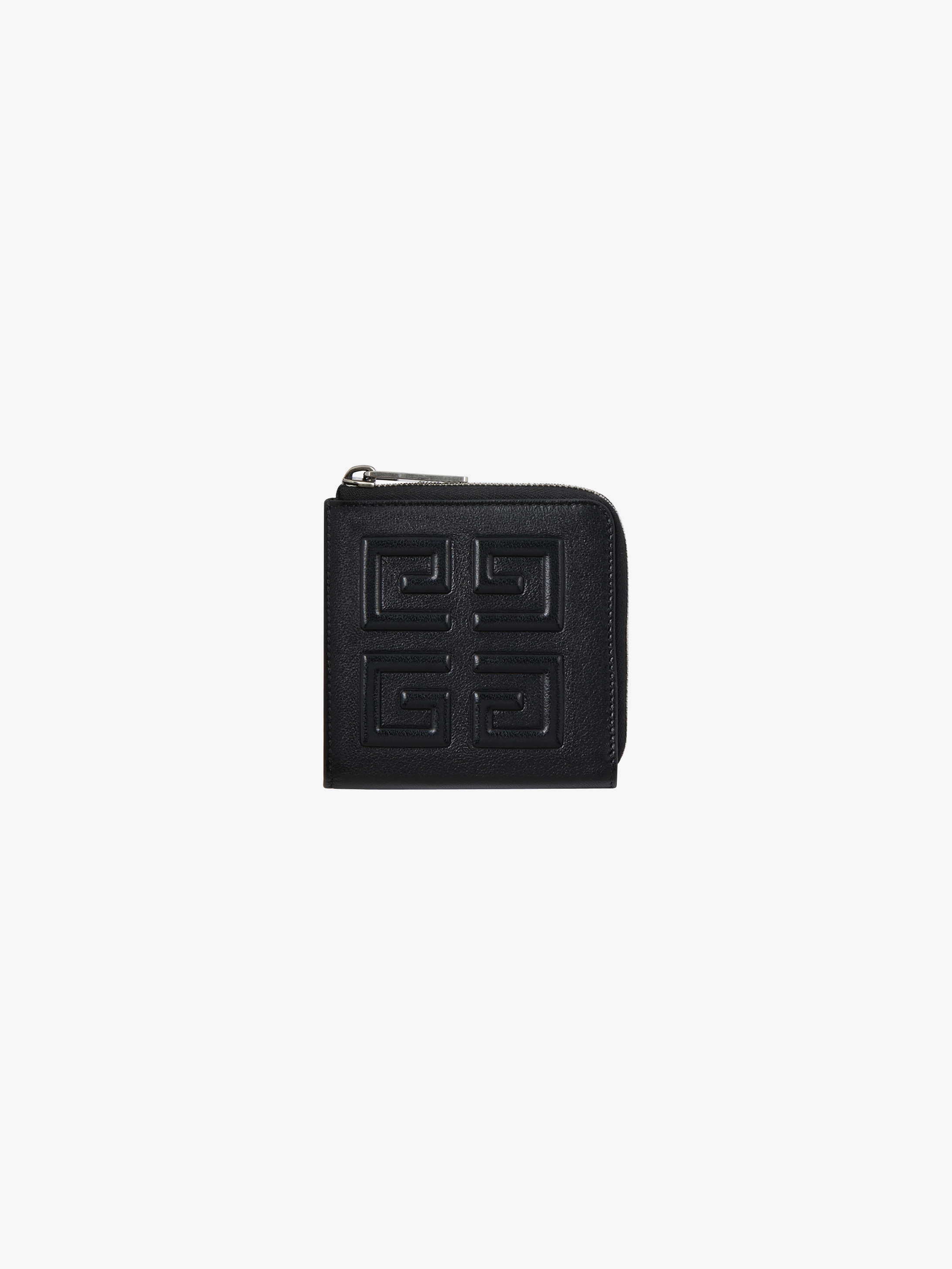 4G square zipped wallet