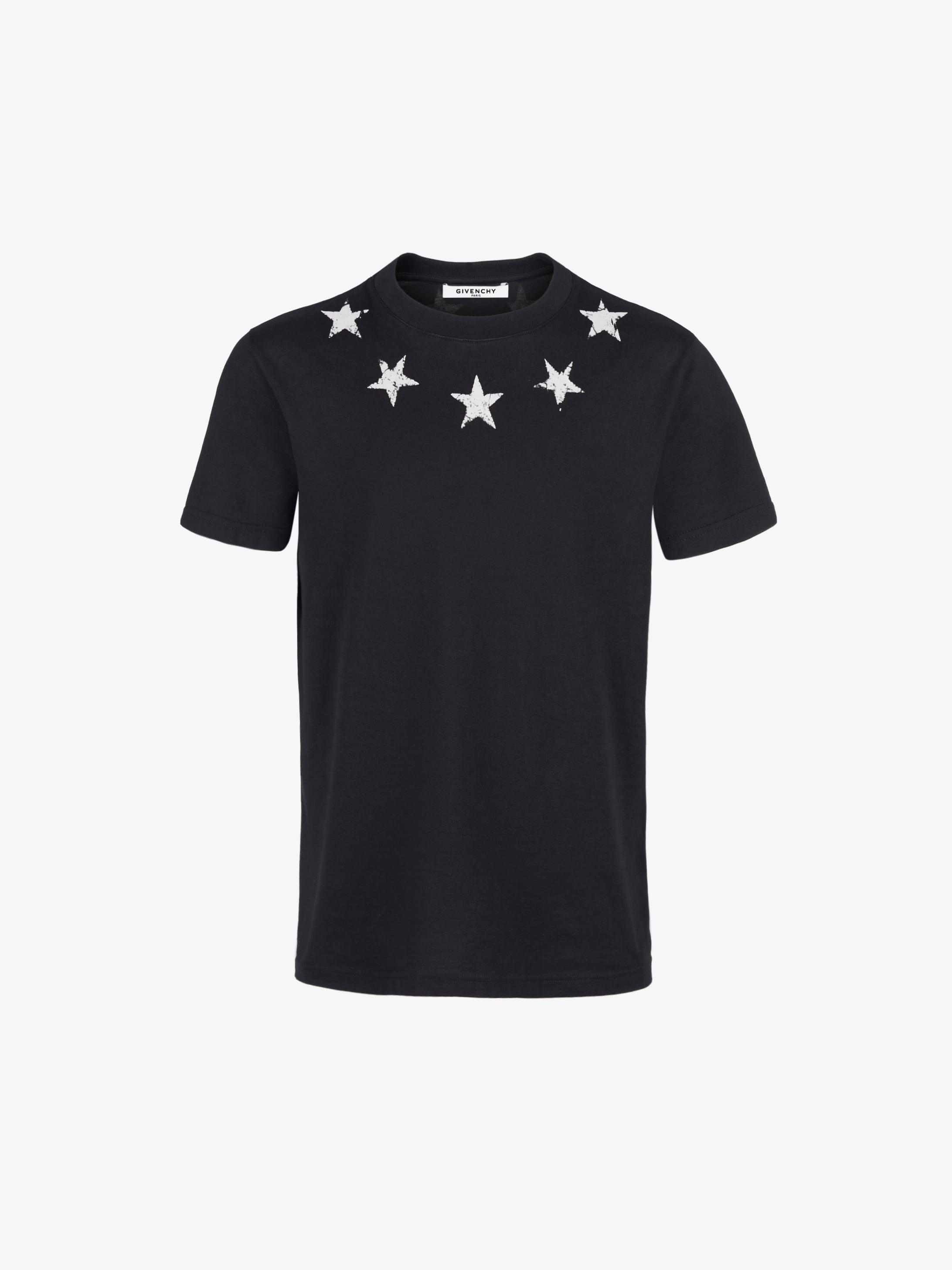 复古五角星领口T恤