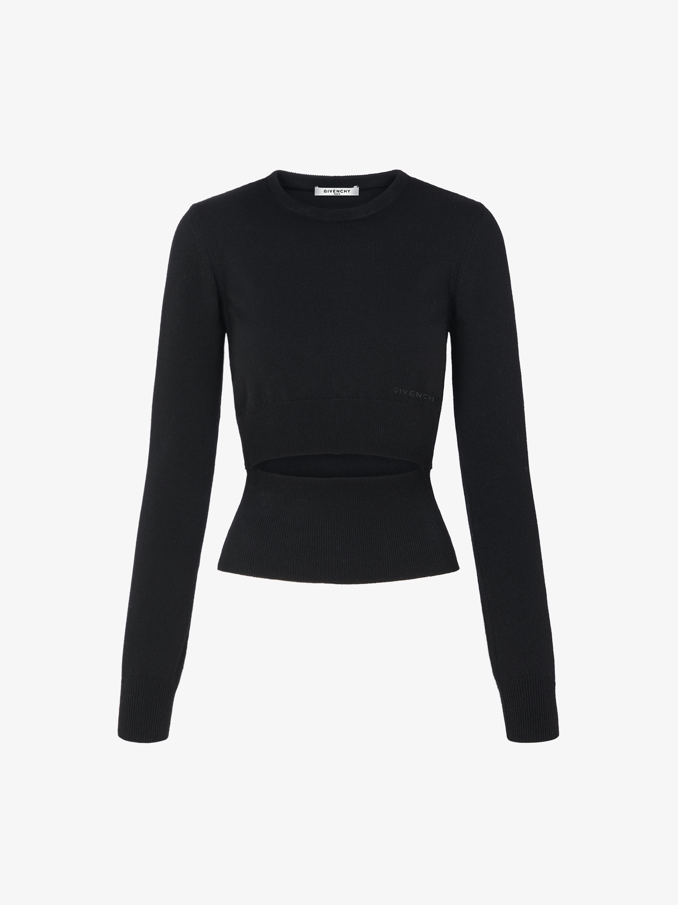 Short GIVENCHY sweater with decorative cut-out