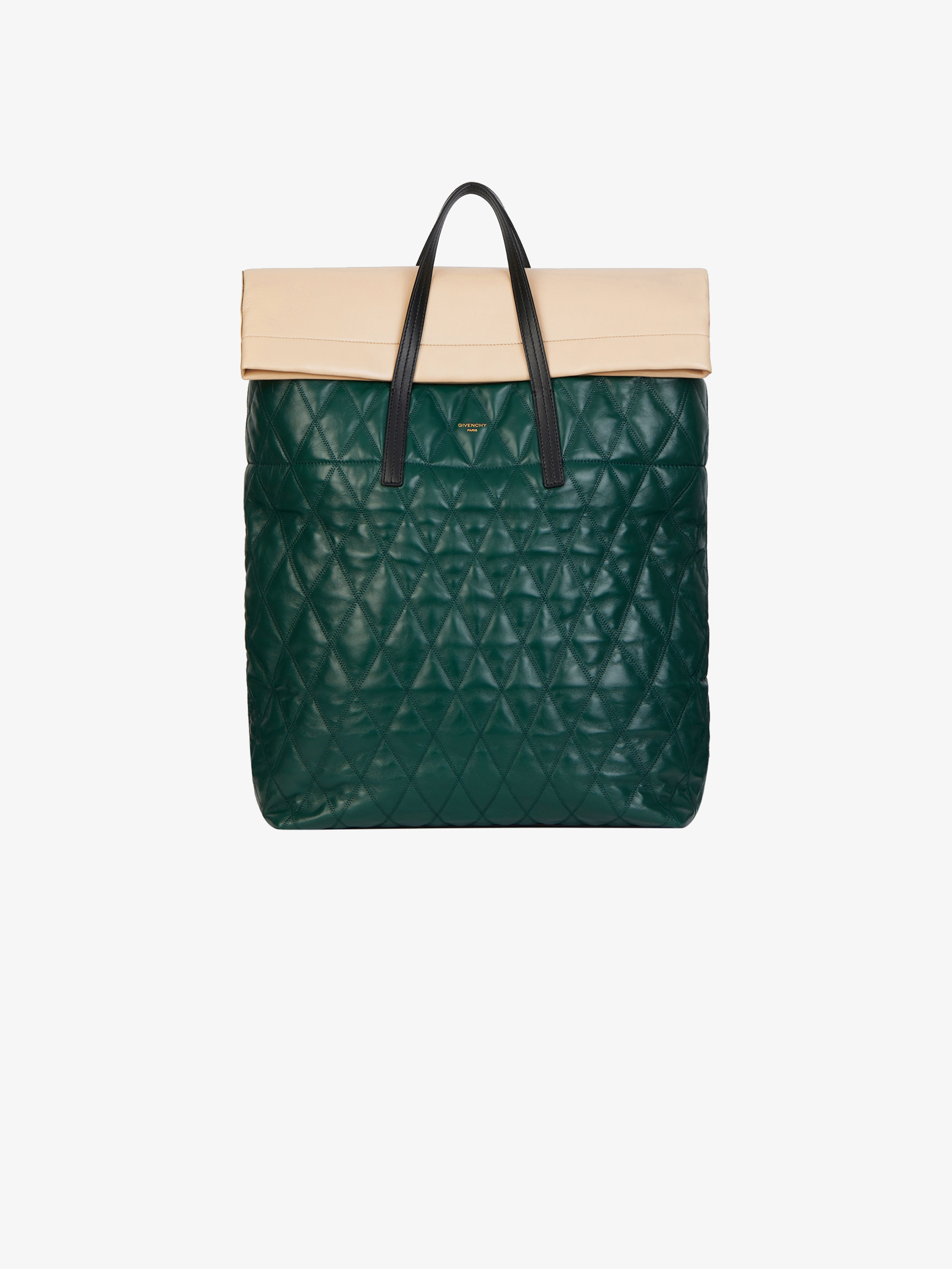 Jaw shopper in diamond quilted leather