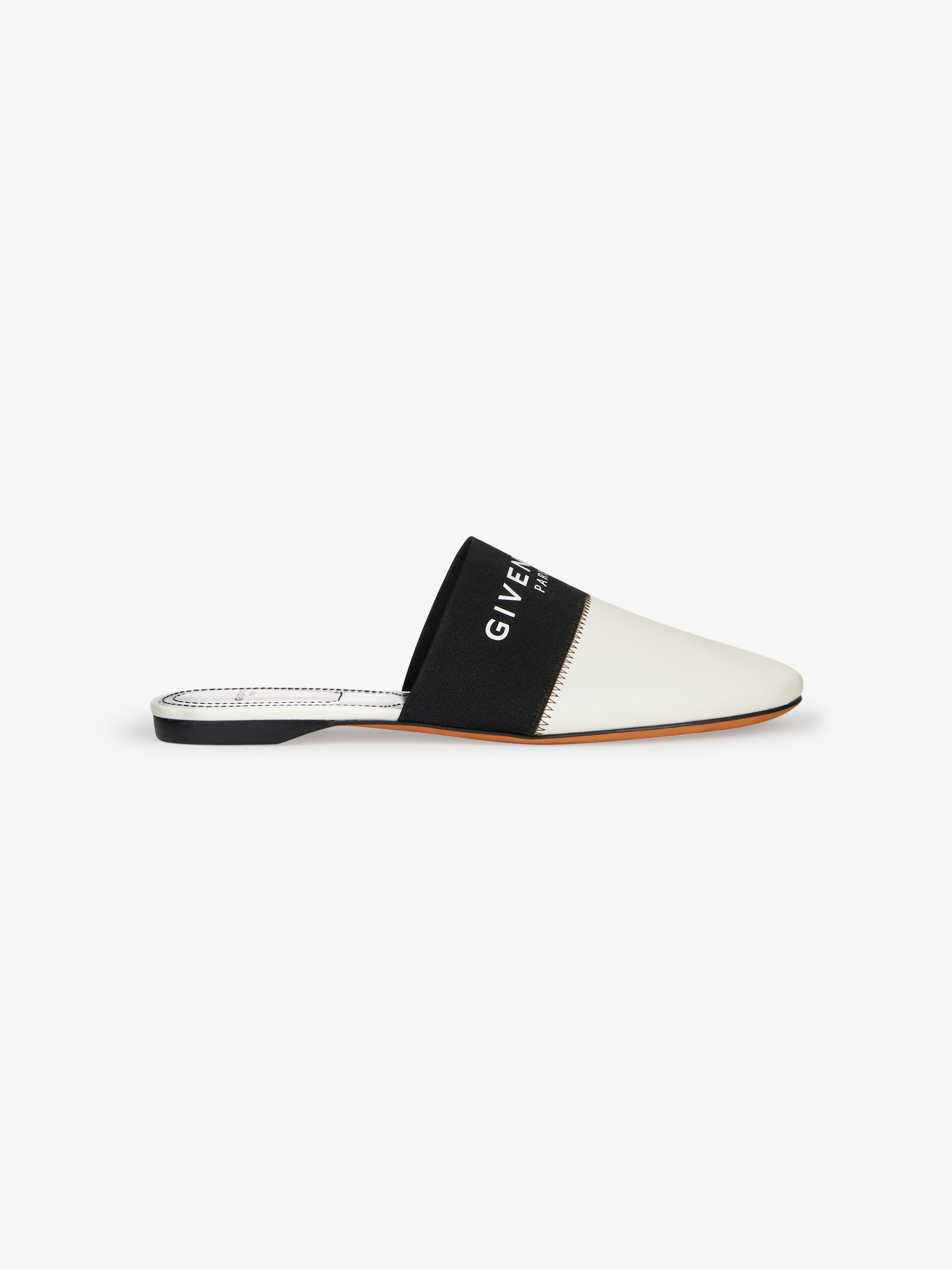 GIVENCHY PARIS flat mules in leather