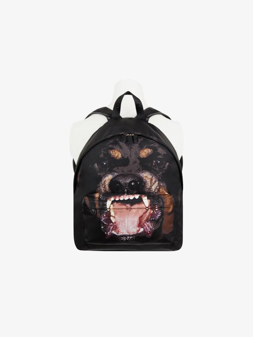 Rottweiler printed backpack in cordura