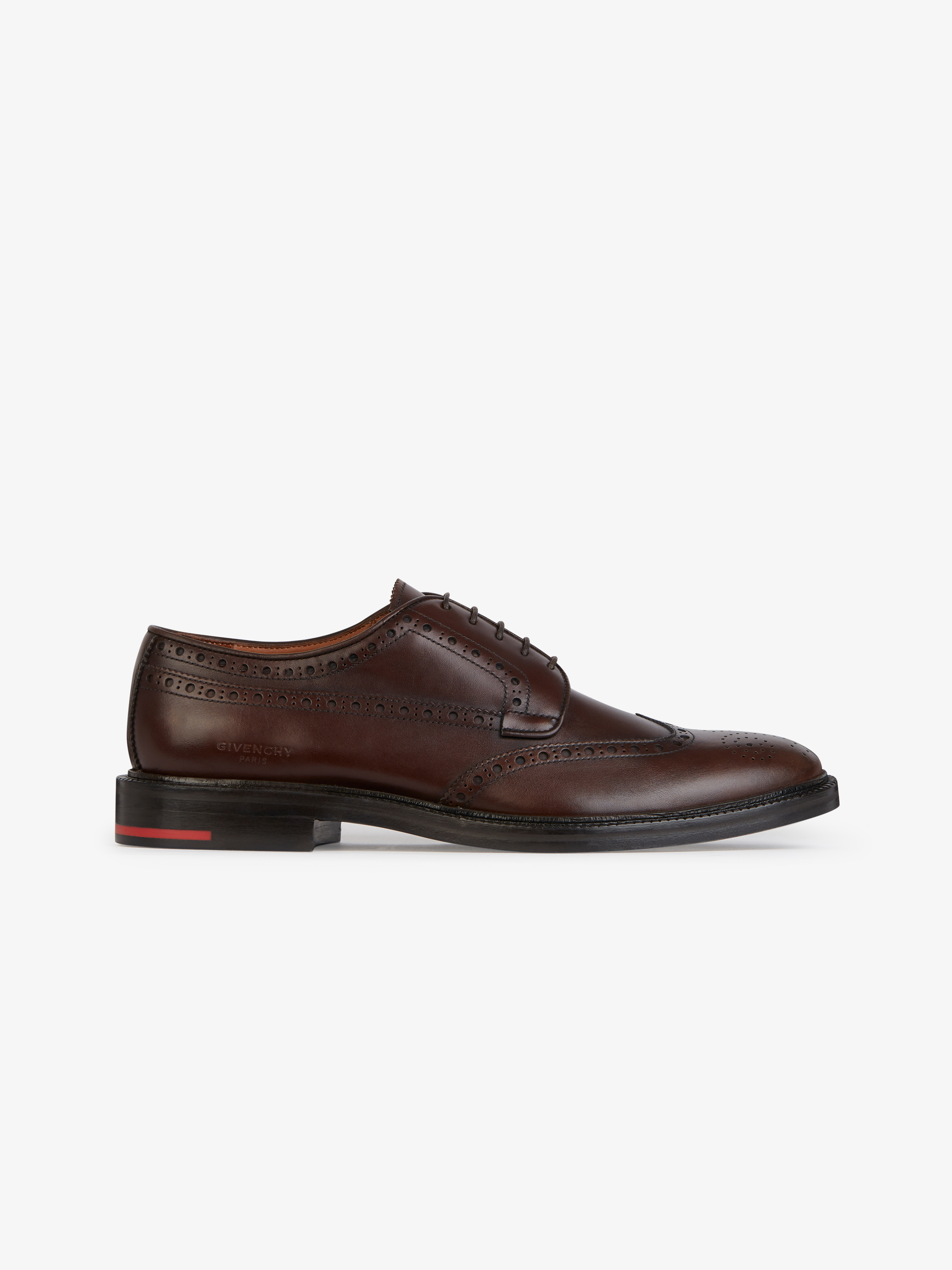 Derby lace-up shoes in Box leather