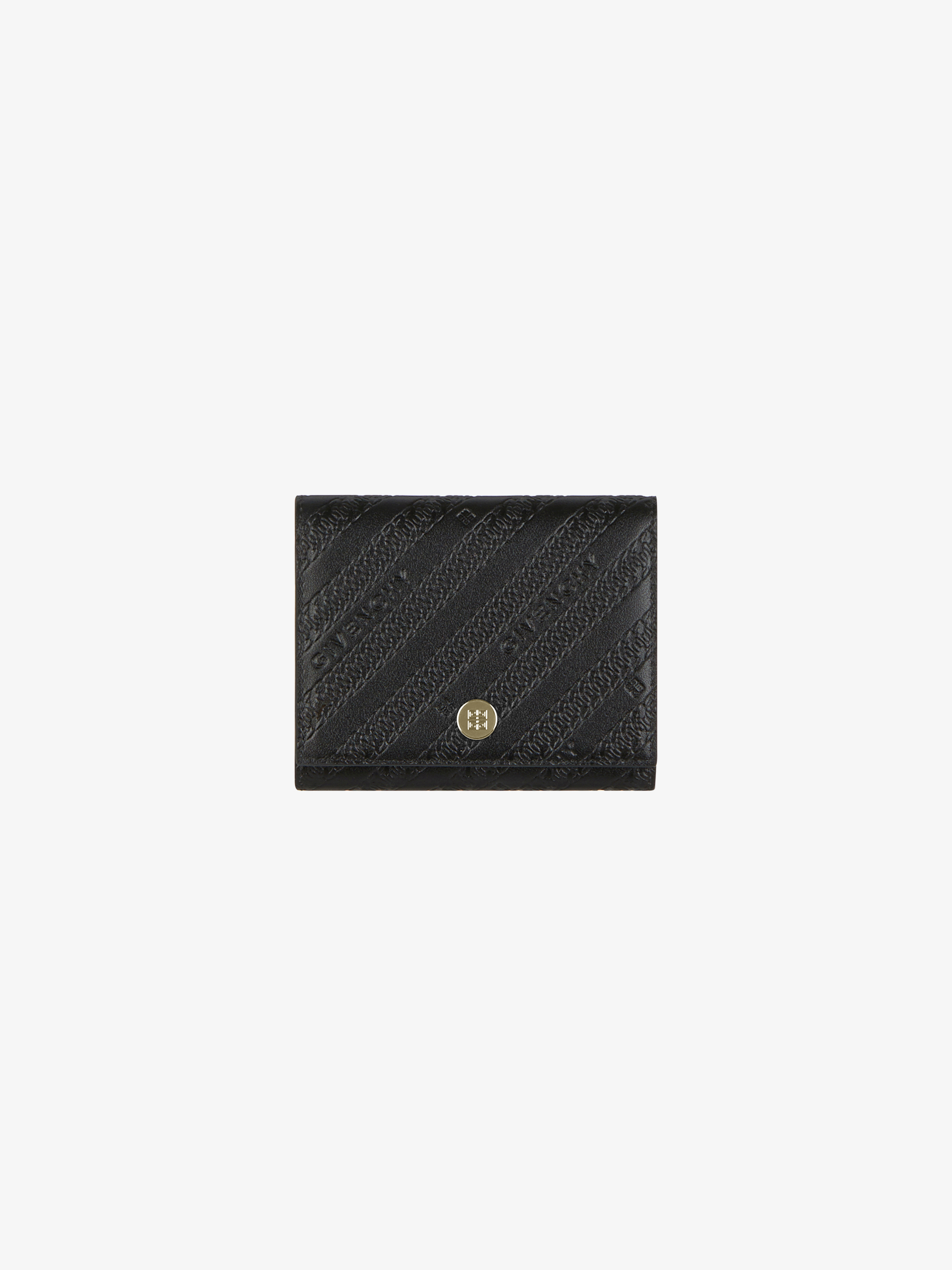 Tri-fold wallet  in GIVENCHY chain leather