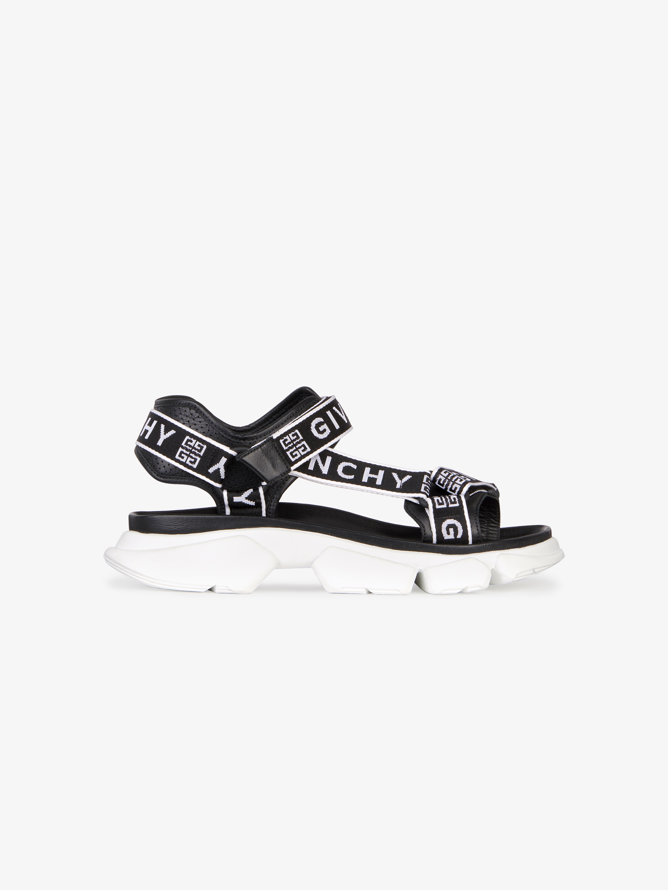 JAW sandals in leather with GIVENCHY 4G webbing