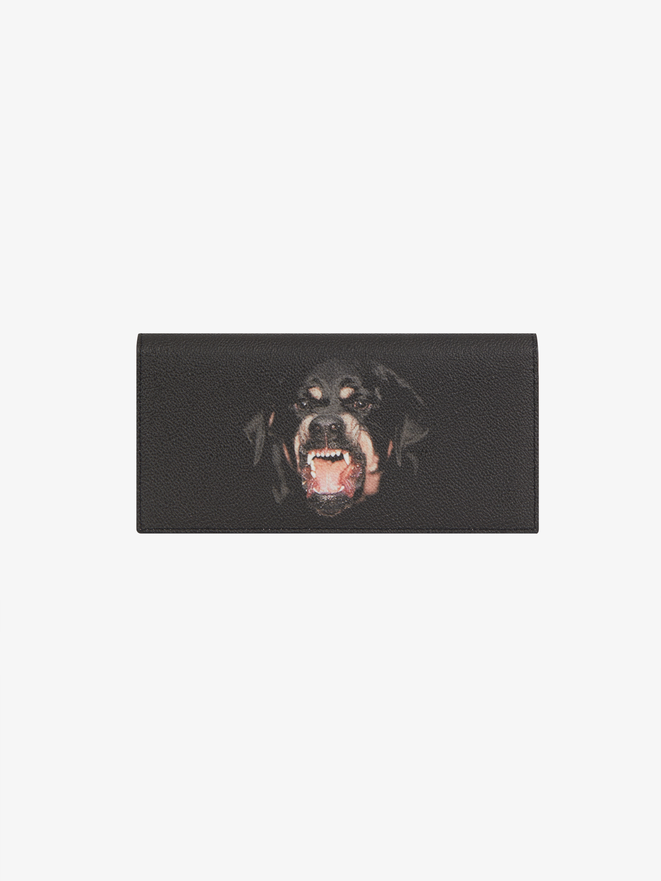 Rottweiler printed long wallet in coated canvas
