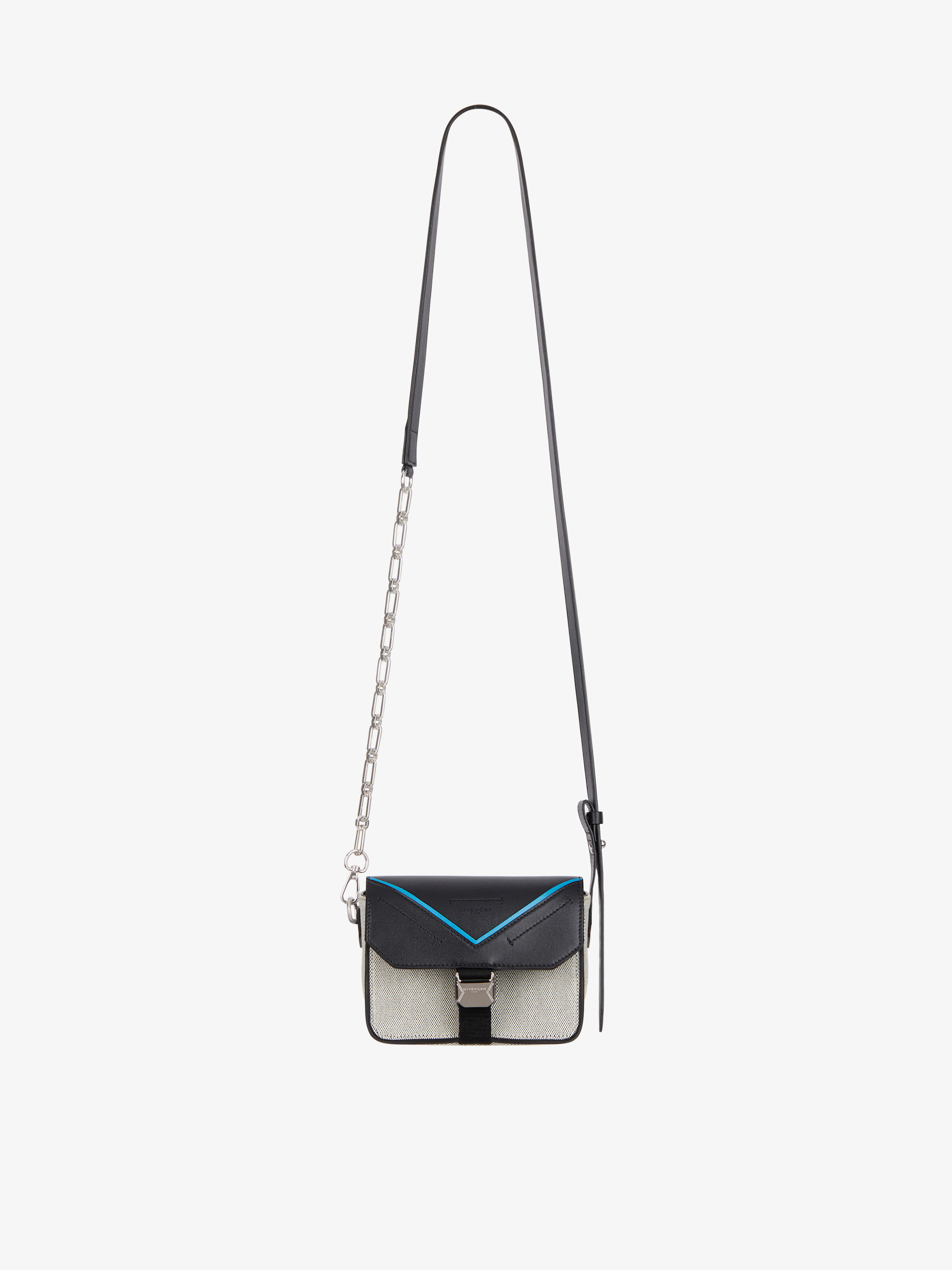 GIVENCHY PARIS Bond crossbody bag in canvas and leather