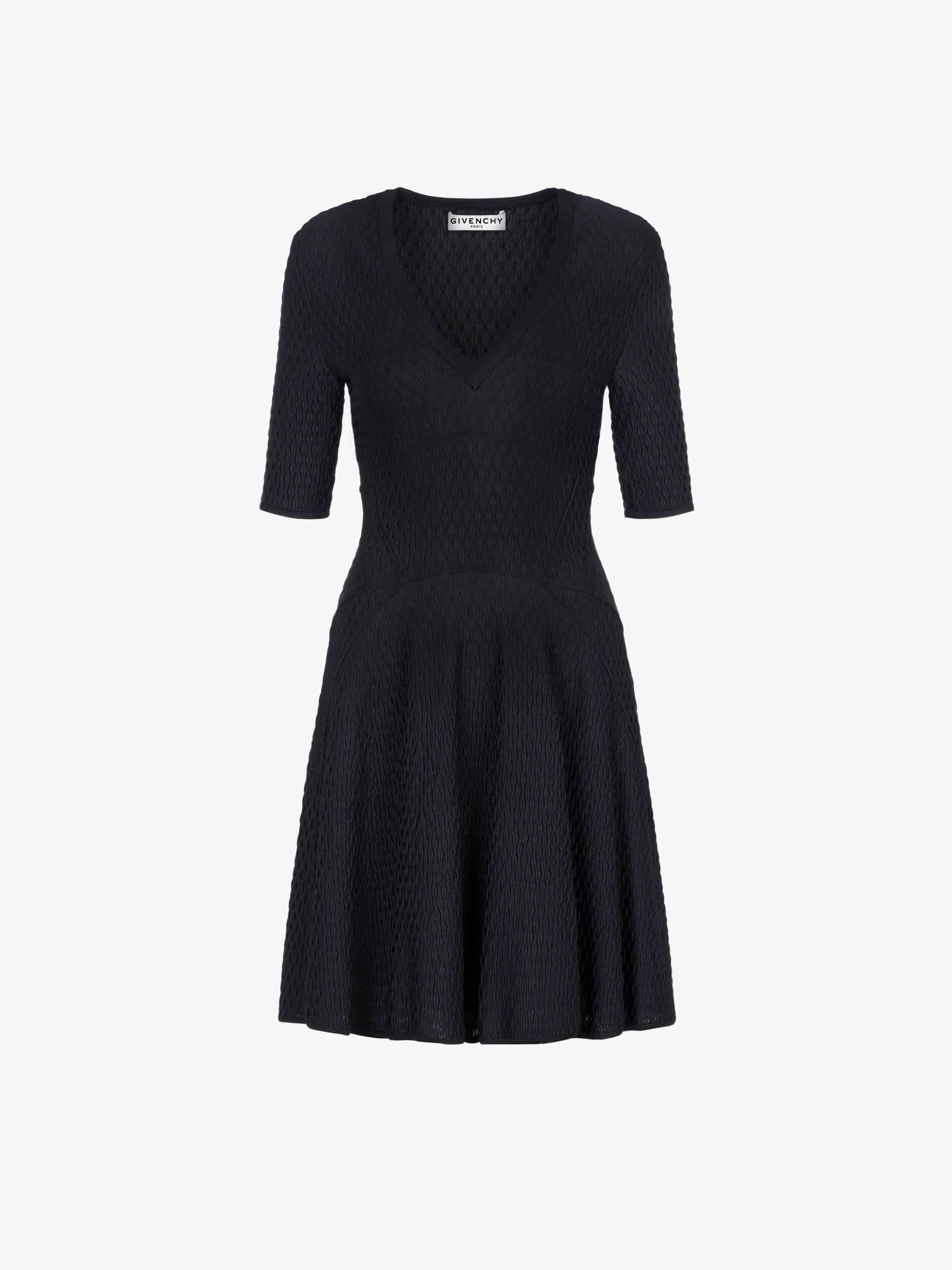 스목 효과 비스코스 쇼트 드레스