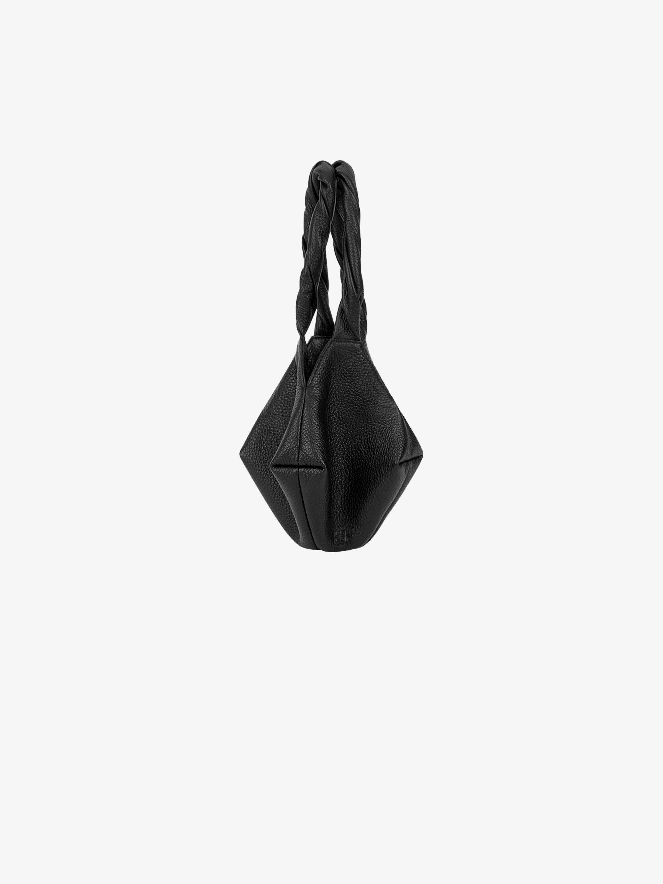 Mini Ball bag in grained leather