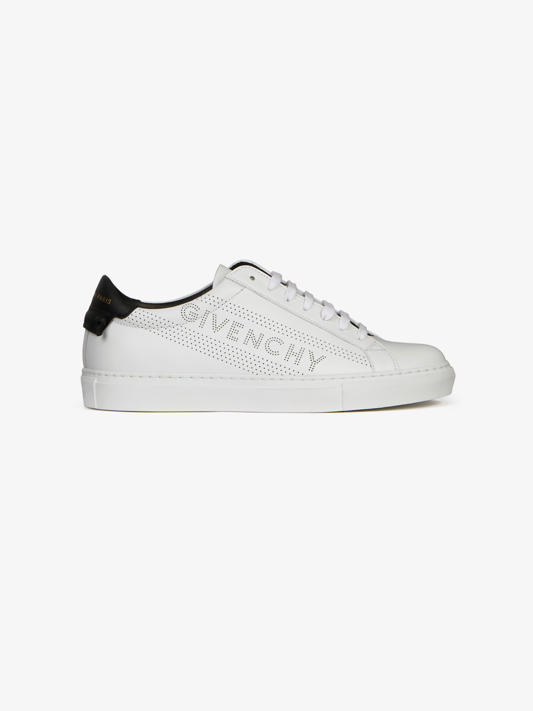 Givenchy Perforated Sneakers In Leather Givenchy Paris