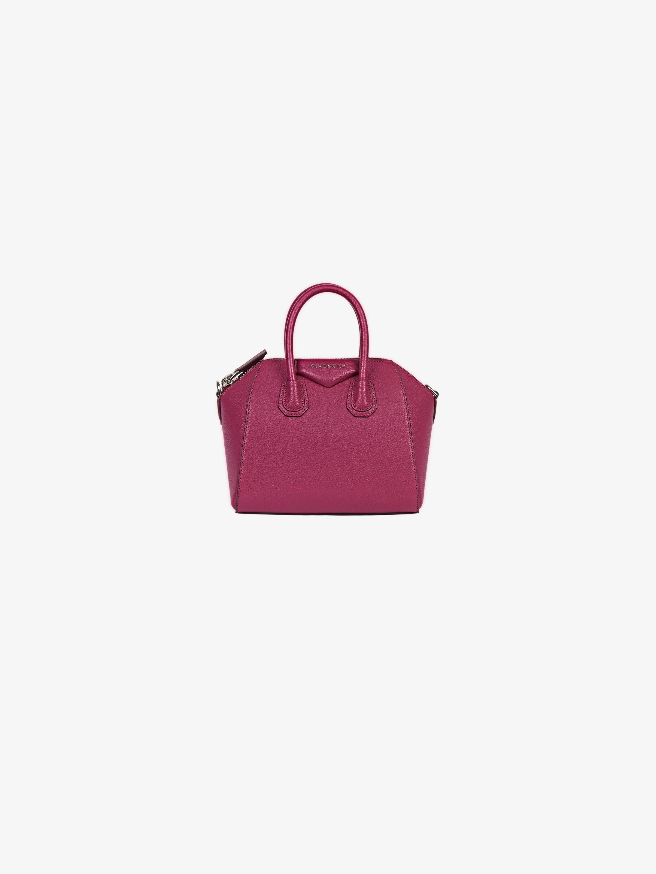 Mini Antigona bag in grained leather  a198102d8b1f3