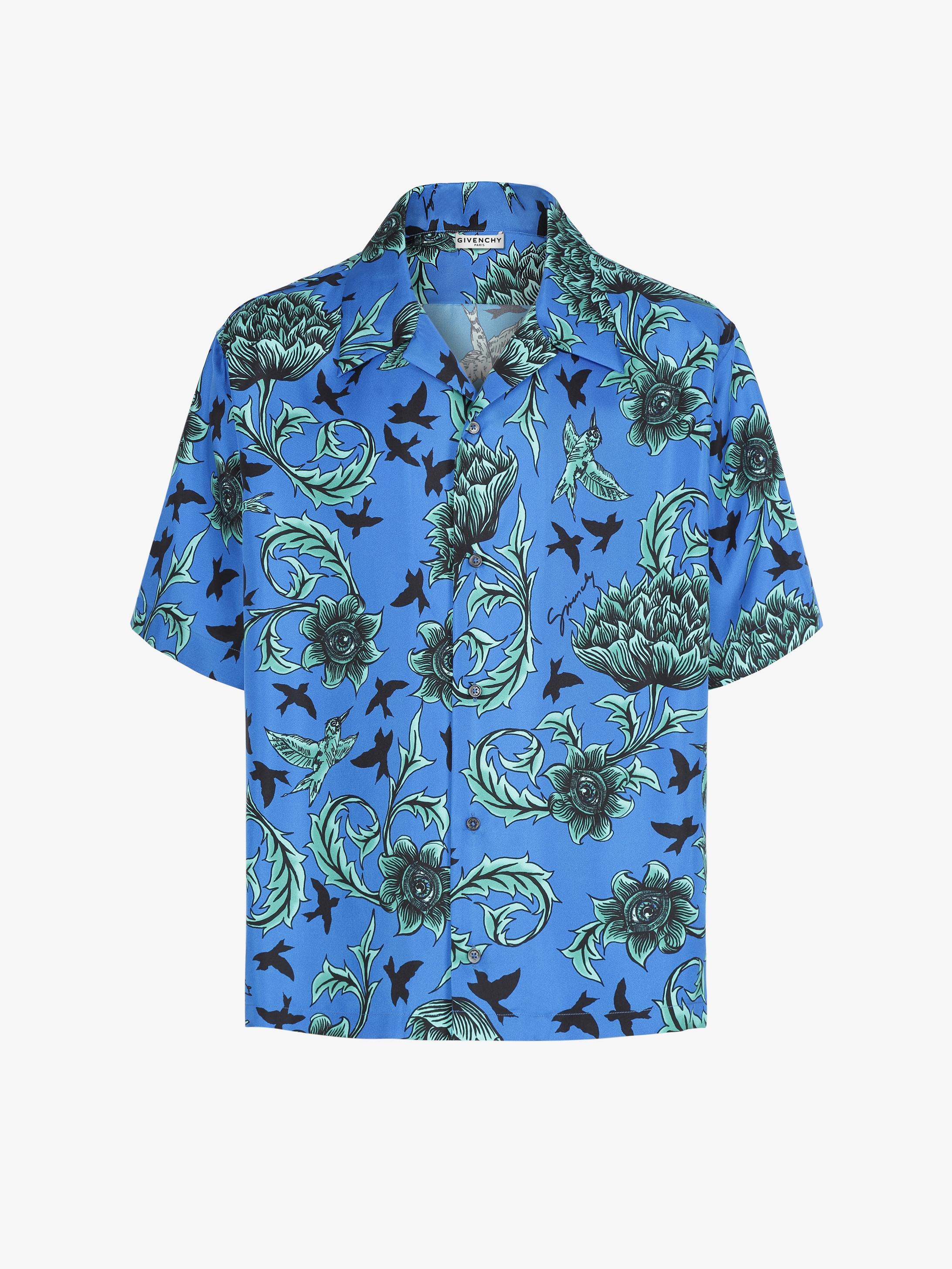 Chemise hawaïenne à imprimé floral