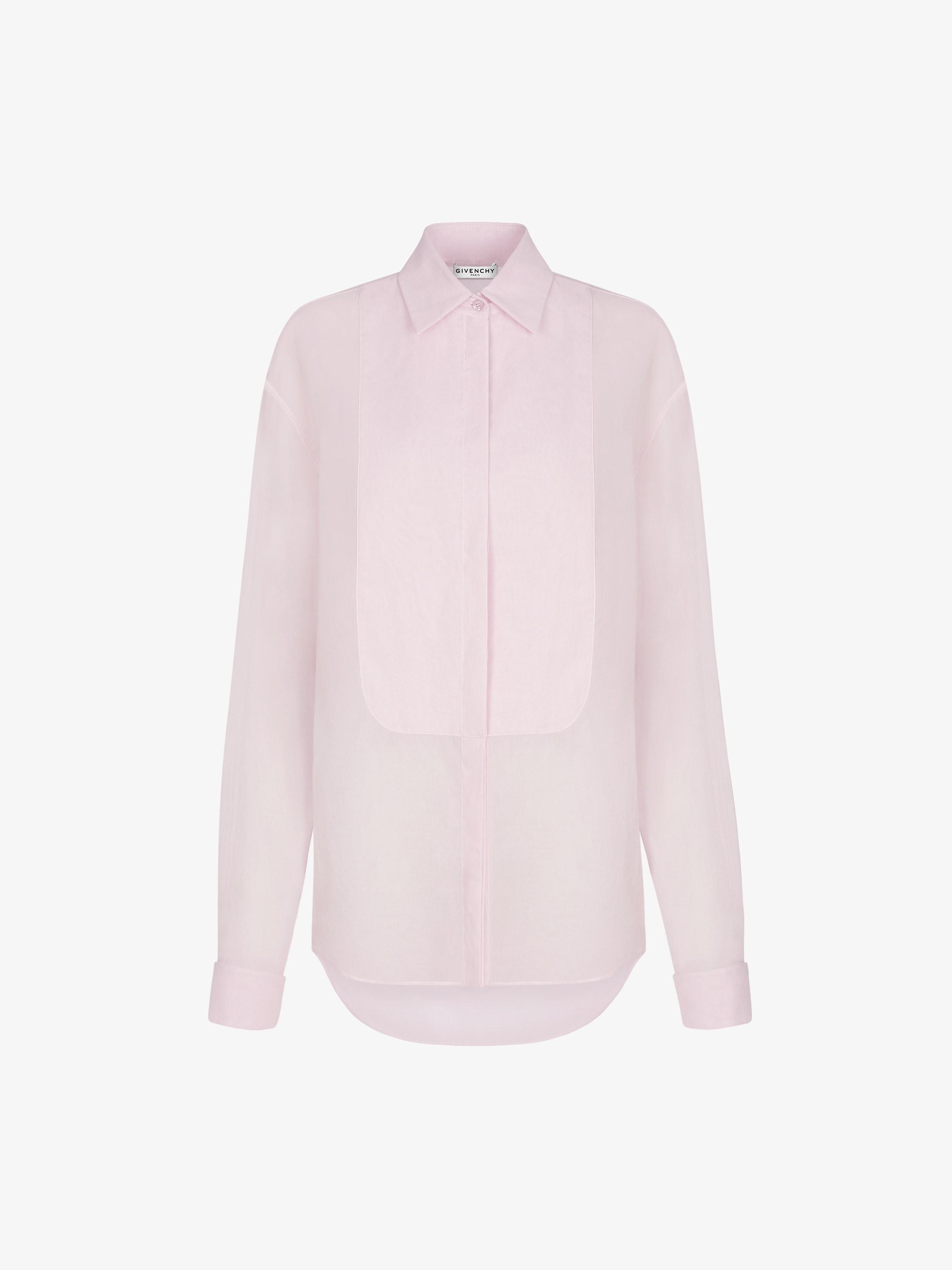 蝉翼纱胸饰衬衫