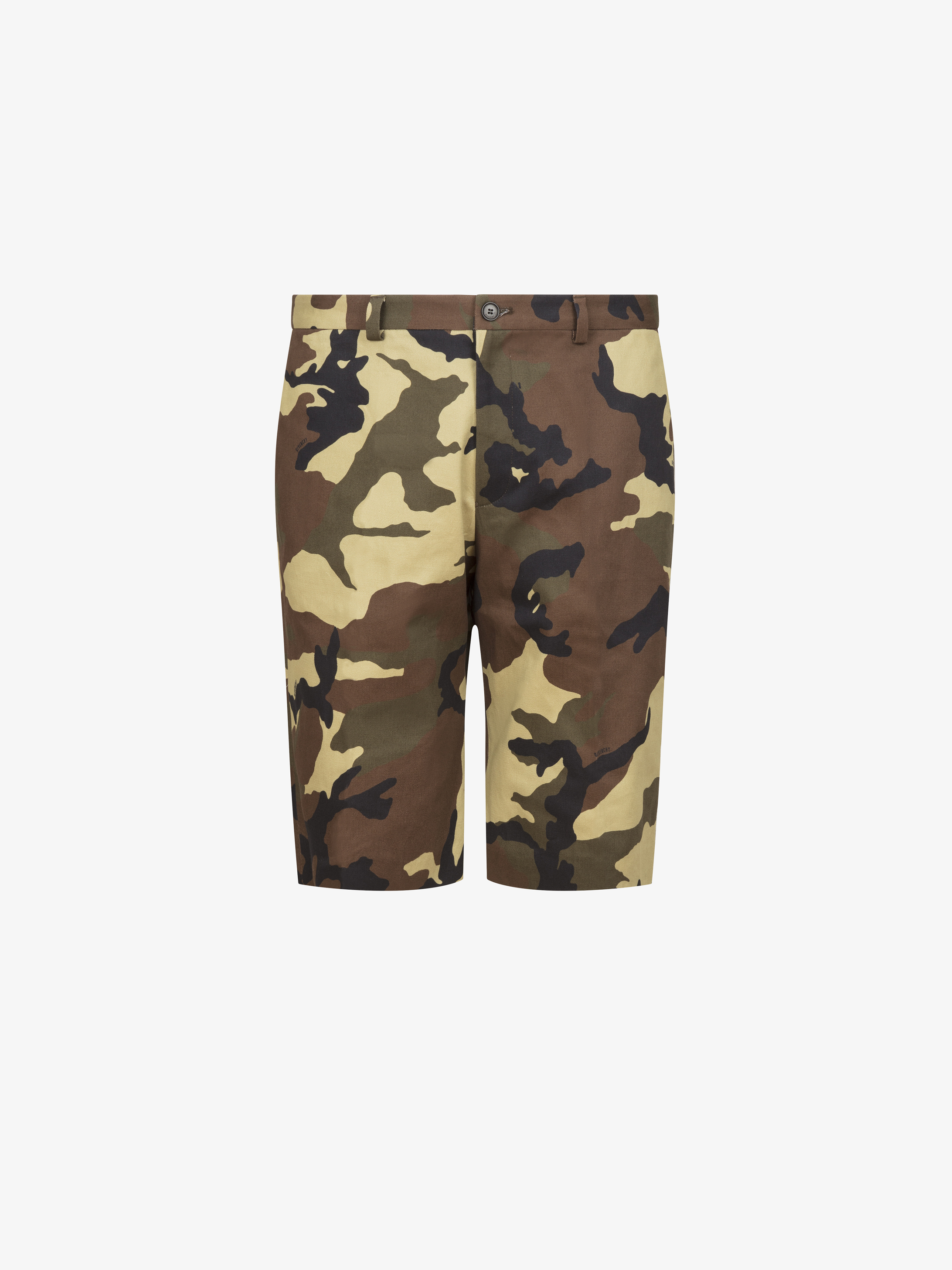 Camo printed short pants