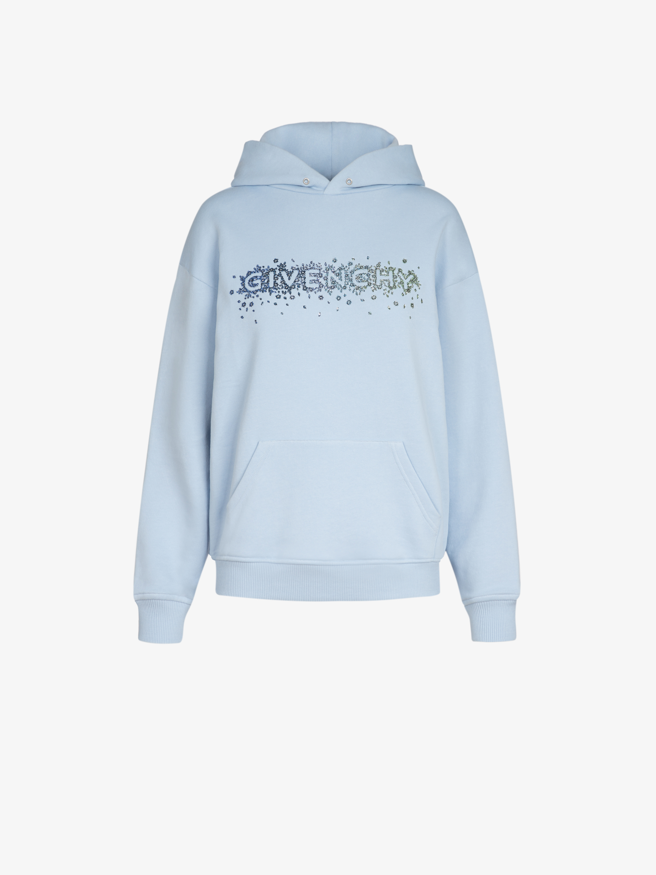 GIVENCHY crystals embroidered hoodie