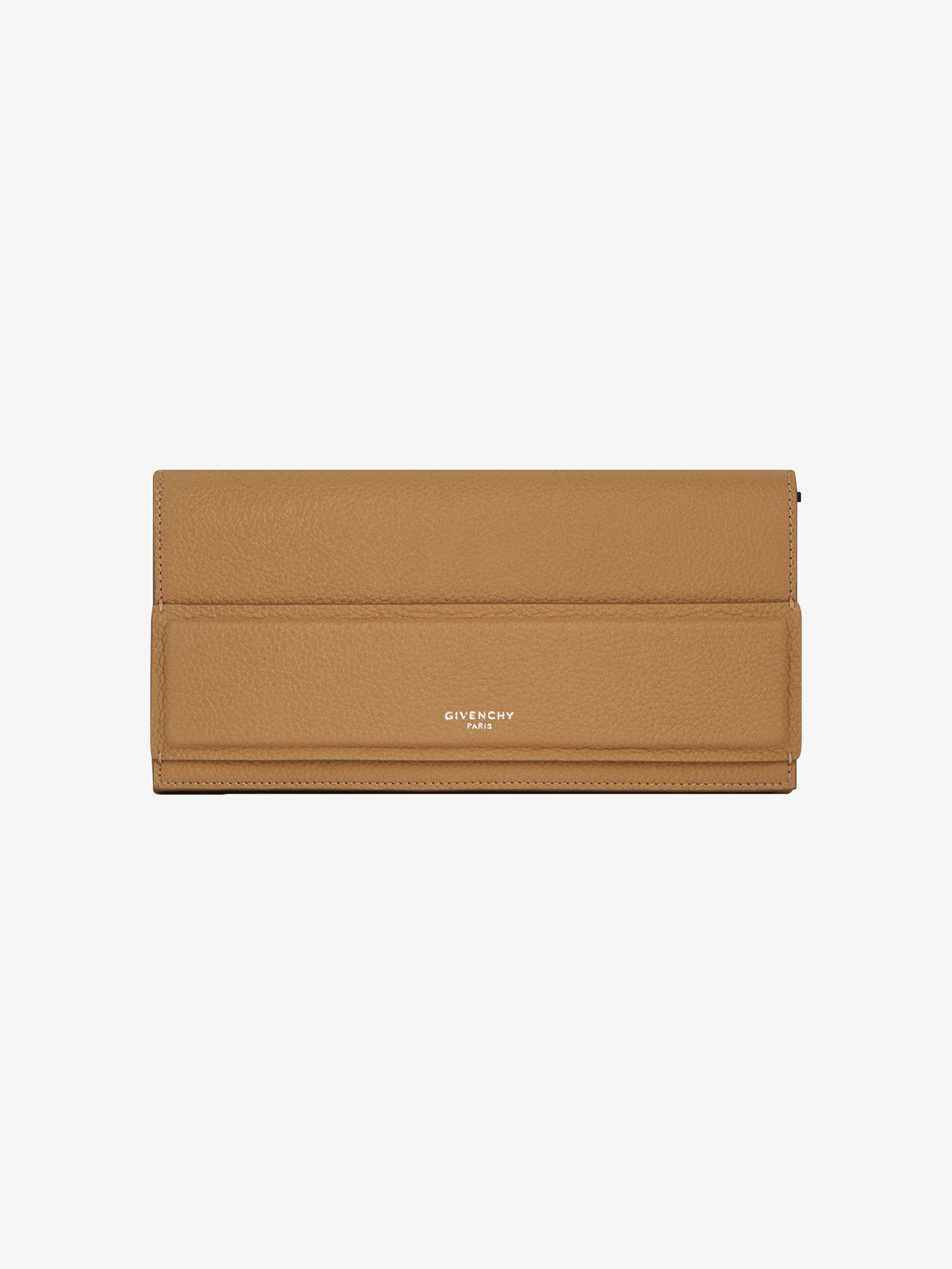 Horizon long flap wallet in grained leather