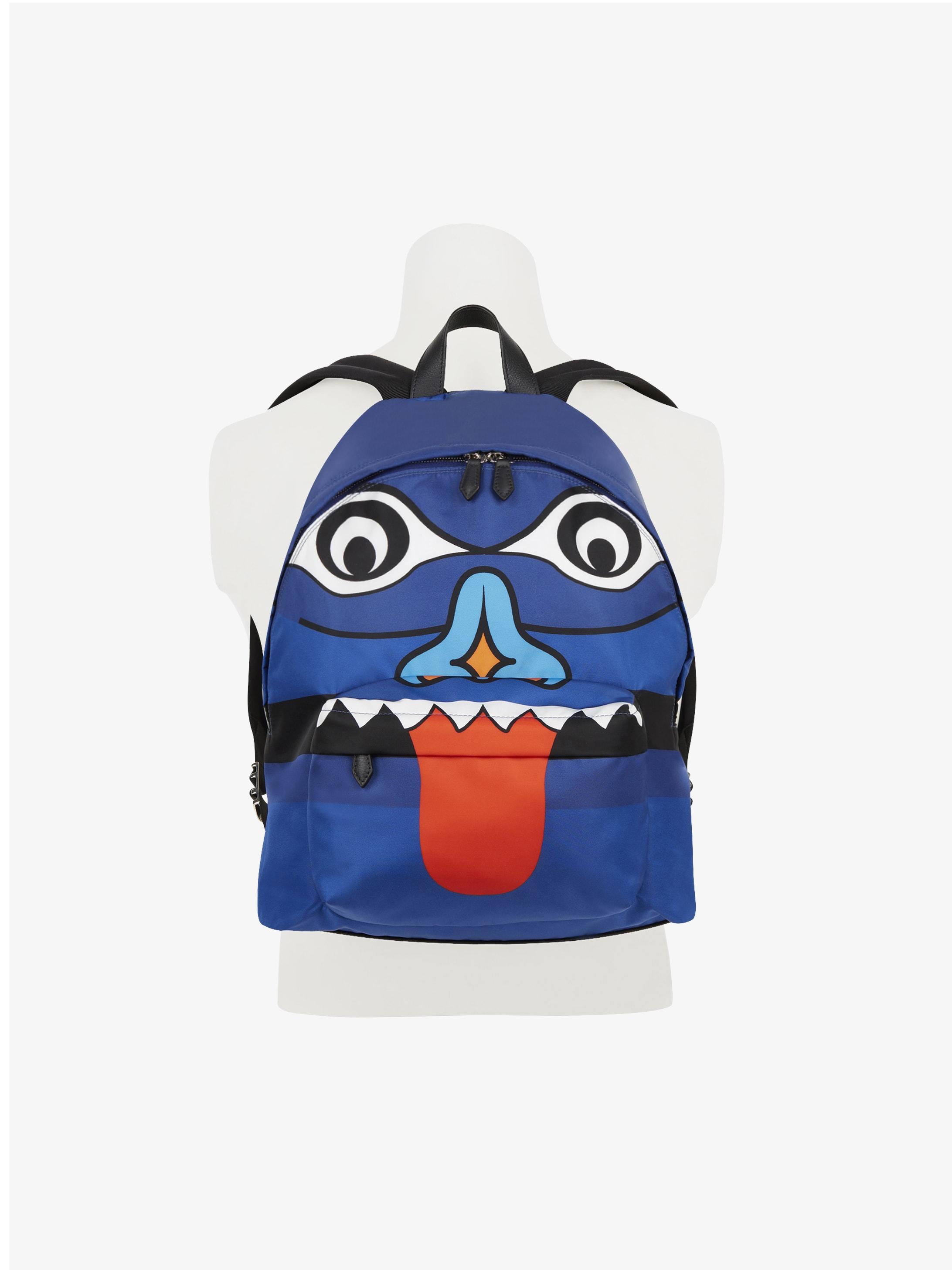 Totem printed backpack in nylon