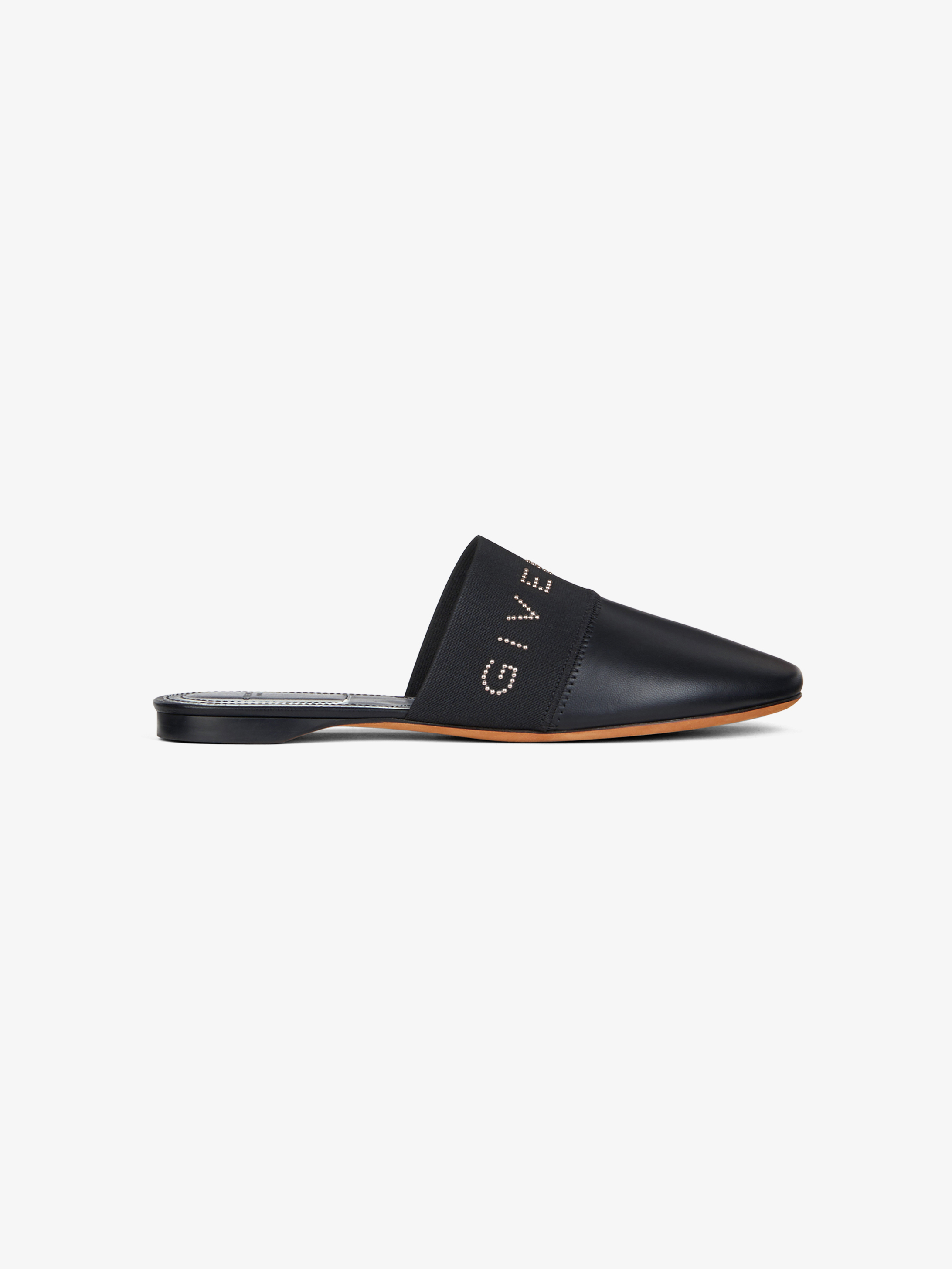 GIVENCHY studded flat mules in leather