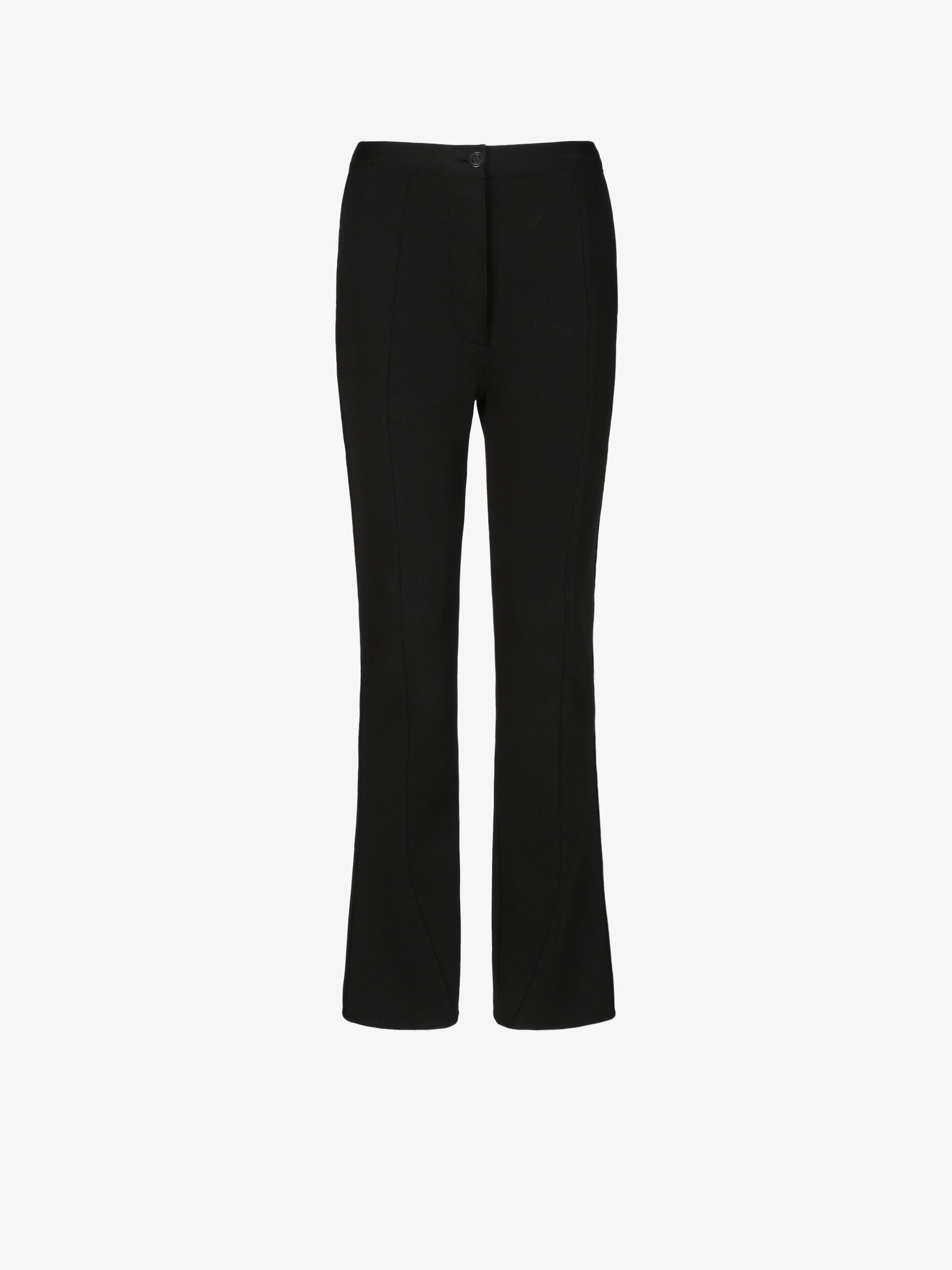 Slim flared trousers