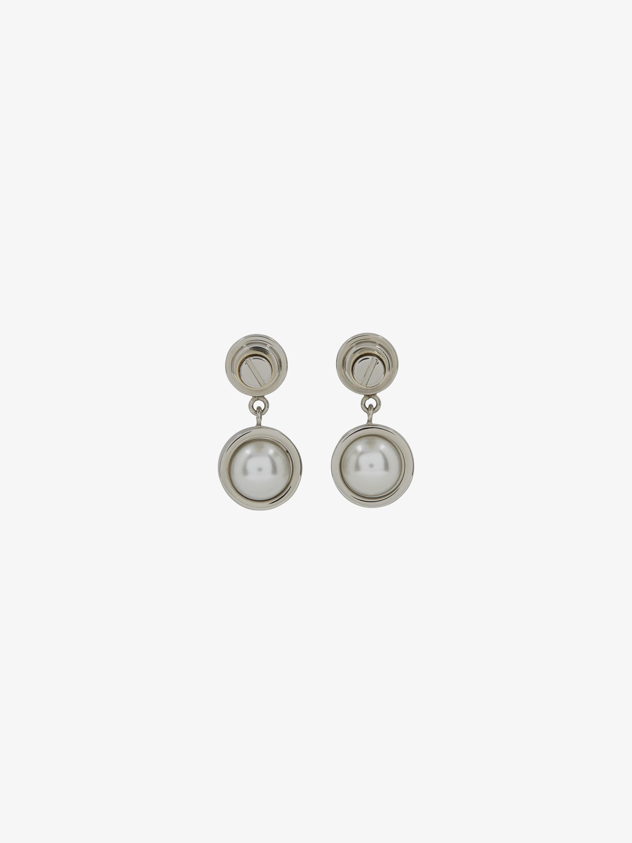 Boucles d'oreilles Obsedia perle