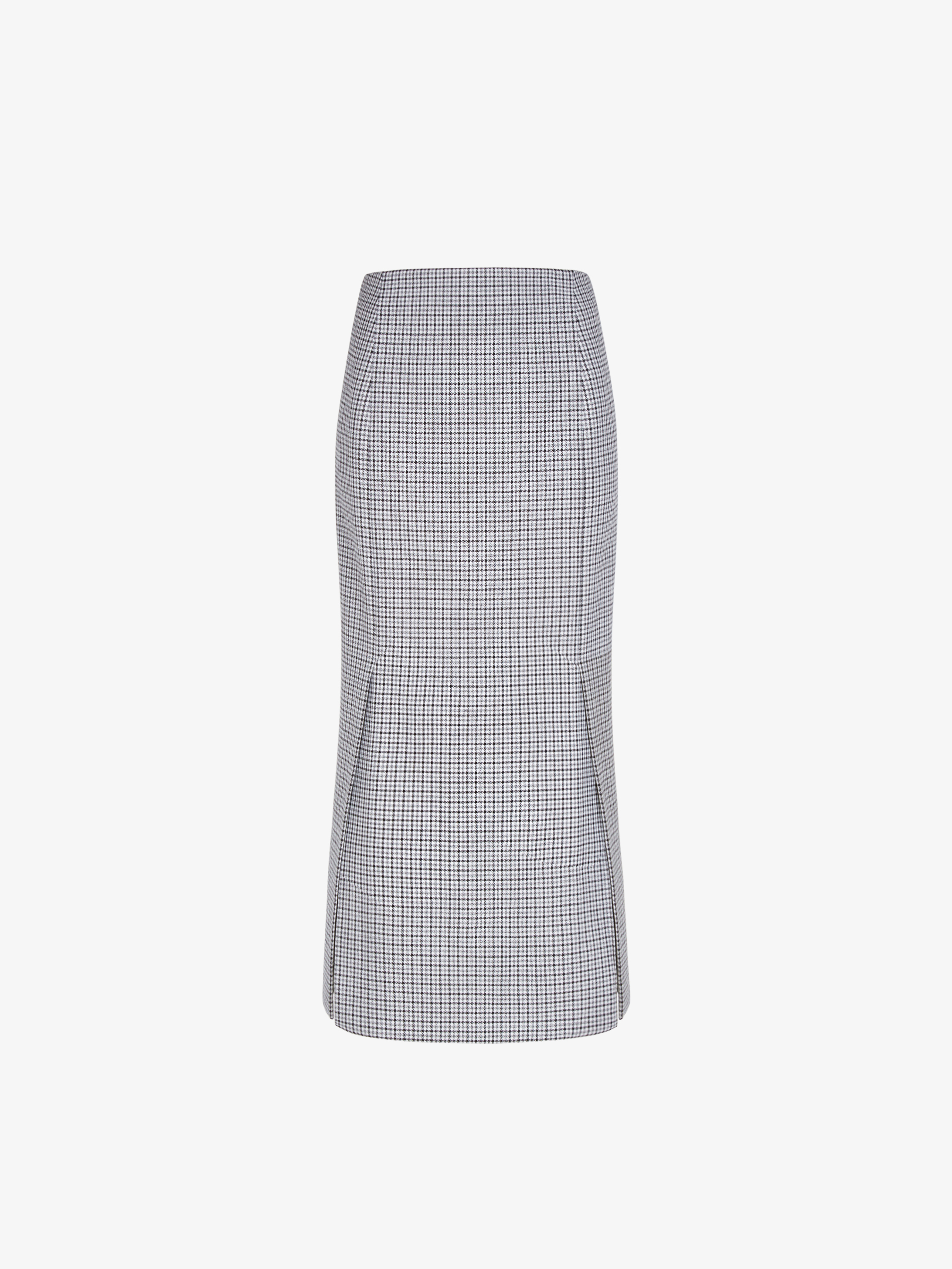 Skirt in houndstooth
